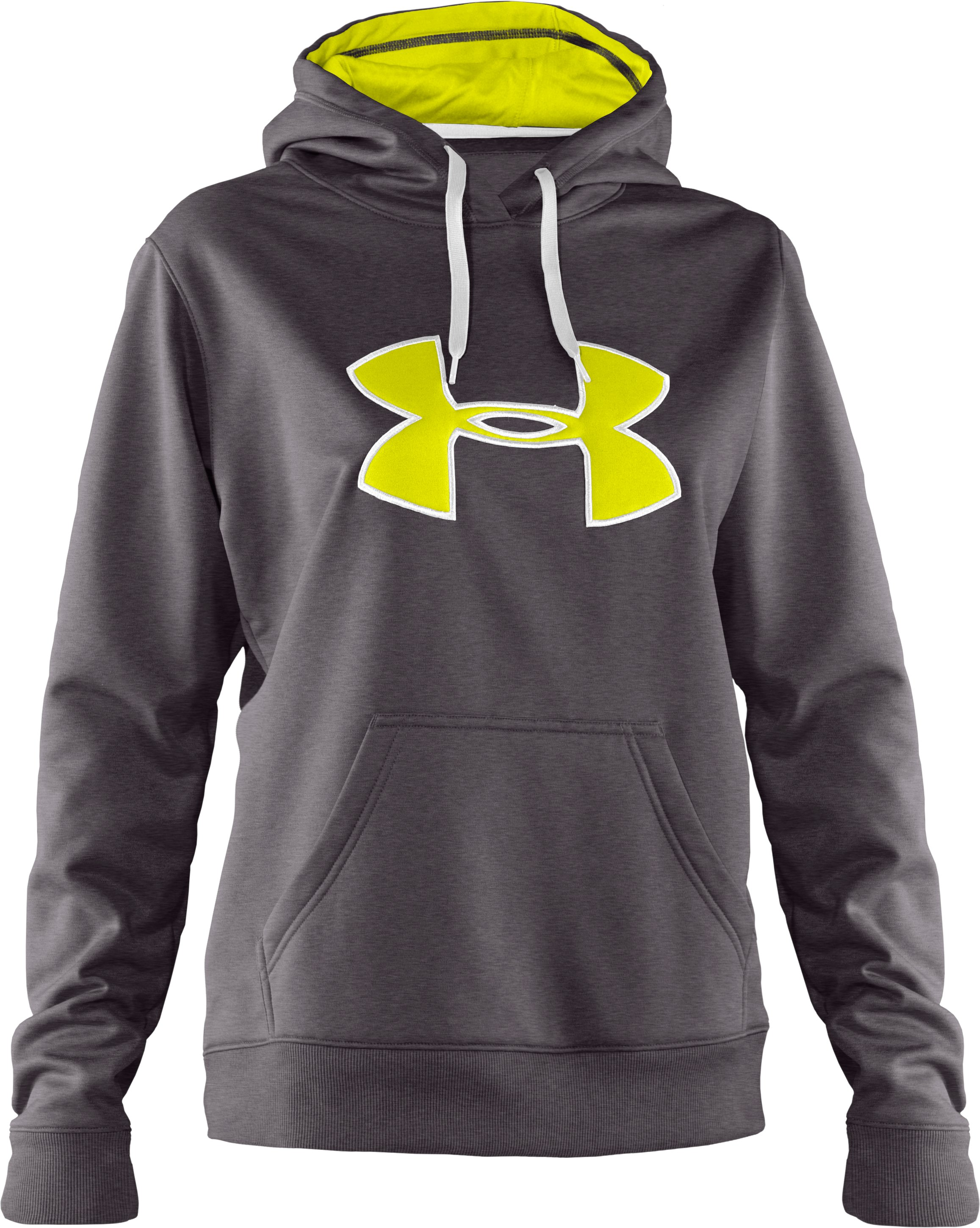 Women's Armour® Fleece Storm Big Logo Hoodie, Carbon Heather