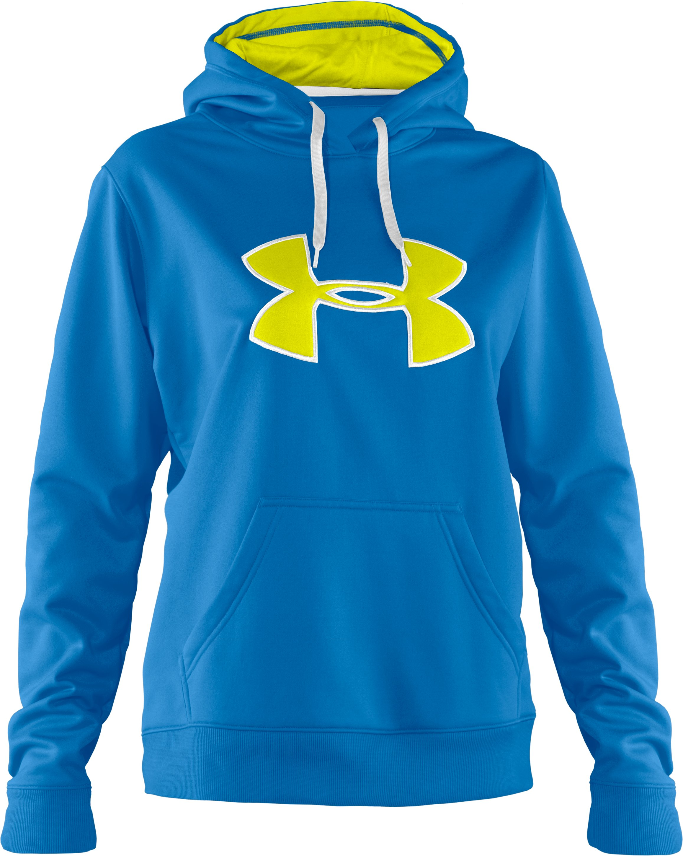 Women's Armour® Fleece Storm Big Logo Hoodie, Pool