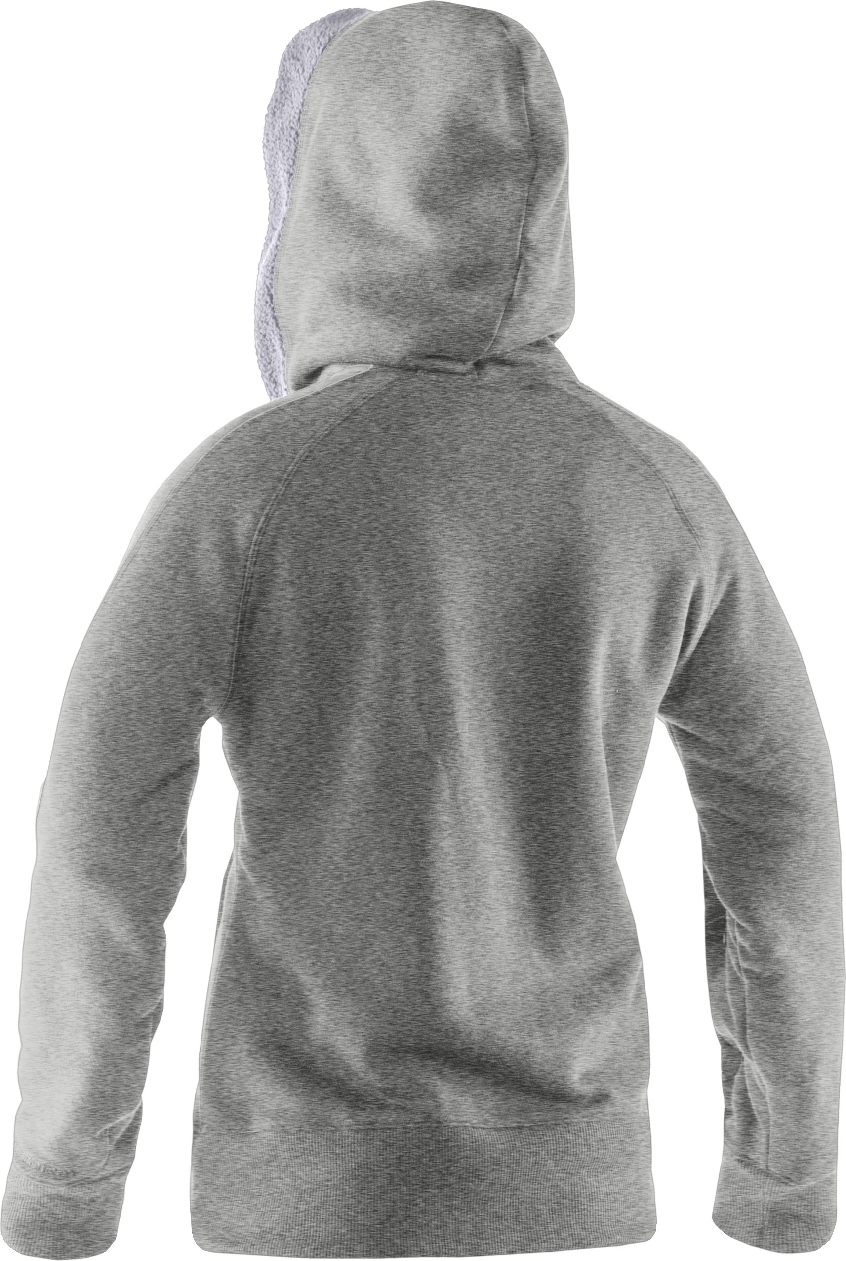 Women's Charged Cotton® Storm Sherpa Full Zip Hoodie, Silver Heather