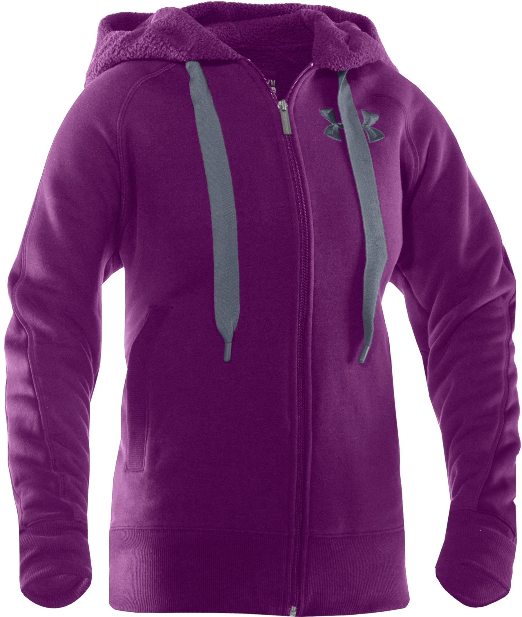 Women's Charged Cotton® Storm Sherpa Full Zip Hoodie, Cassis