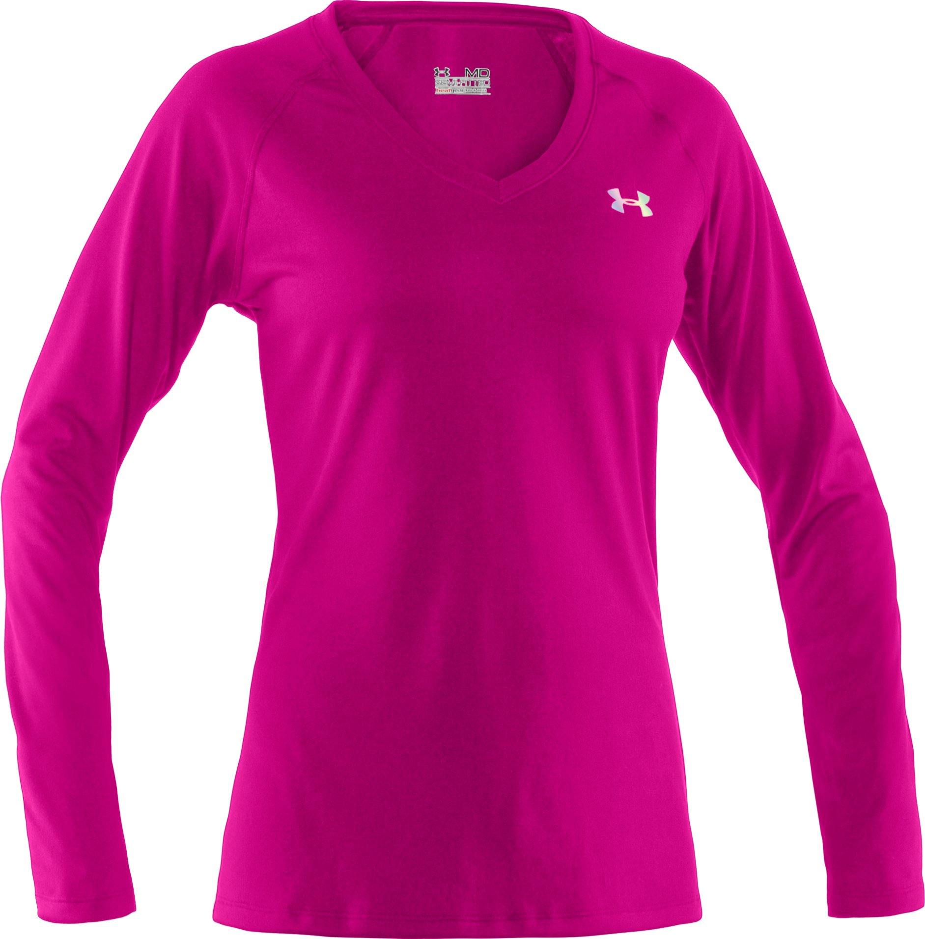Women's UA Tech™ Long Sleeve, Tropic Pink, undefined