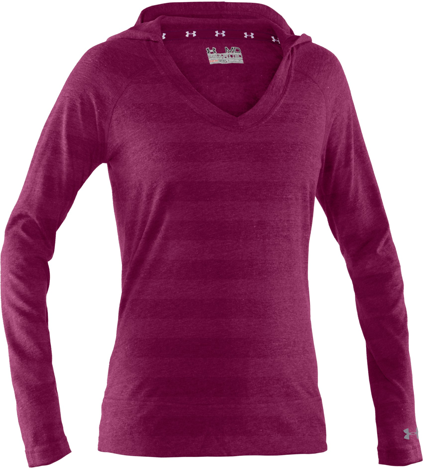 Women's UA Victory Hooded Long Sleeve, Rosewood
