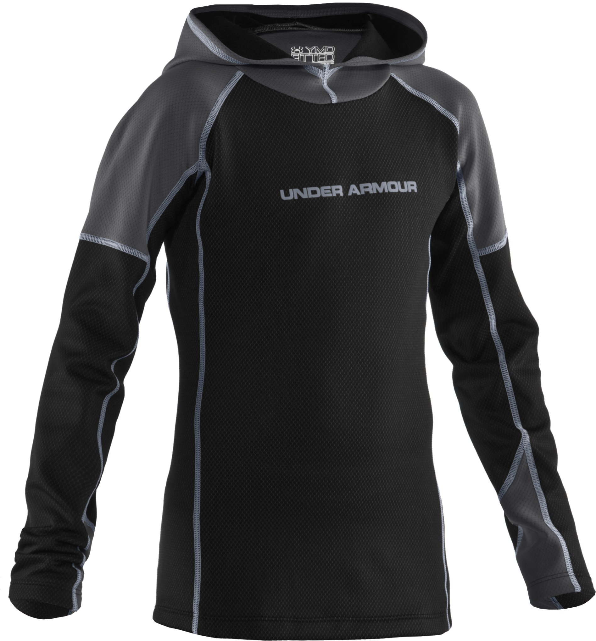 Boys' UA Radiator Hoodie, Black , zoomed image