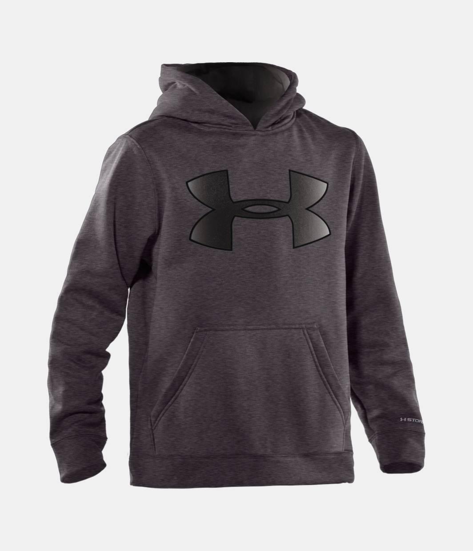 Boys\' Armour® Fleece Storm Big Logo Pullover Hoodie | Under Armour US