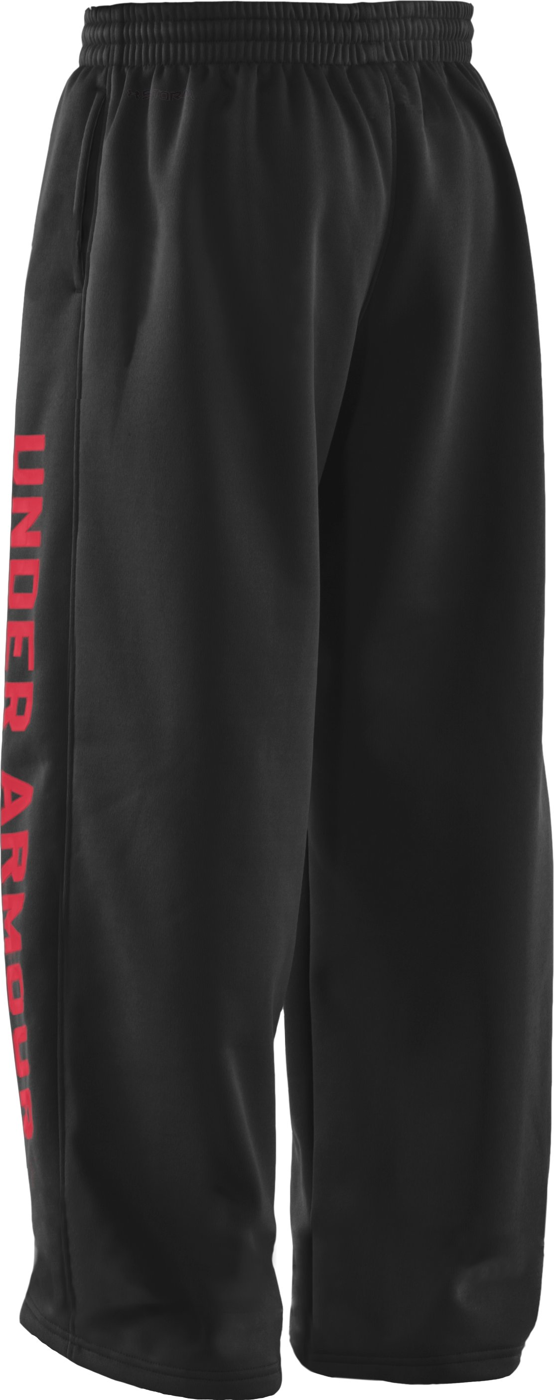 Boys' Armour® Fleece Storm Pants, Black