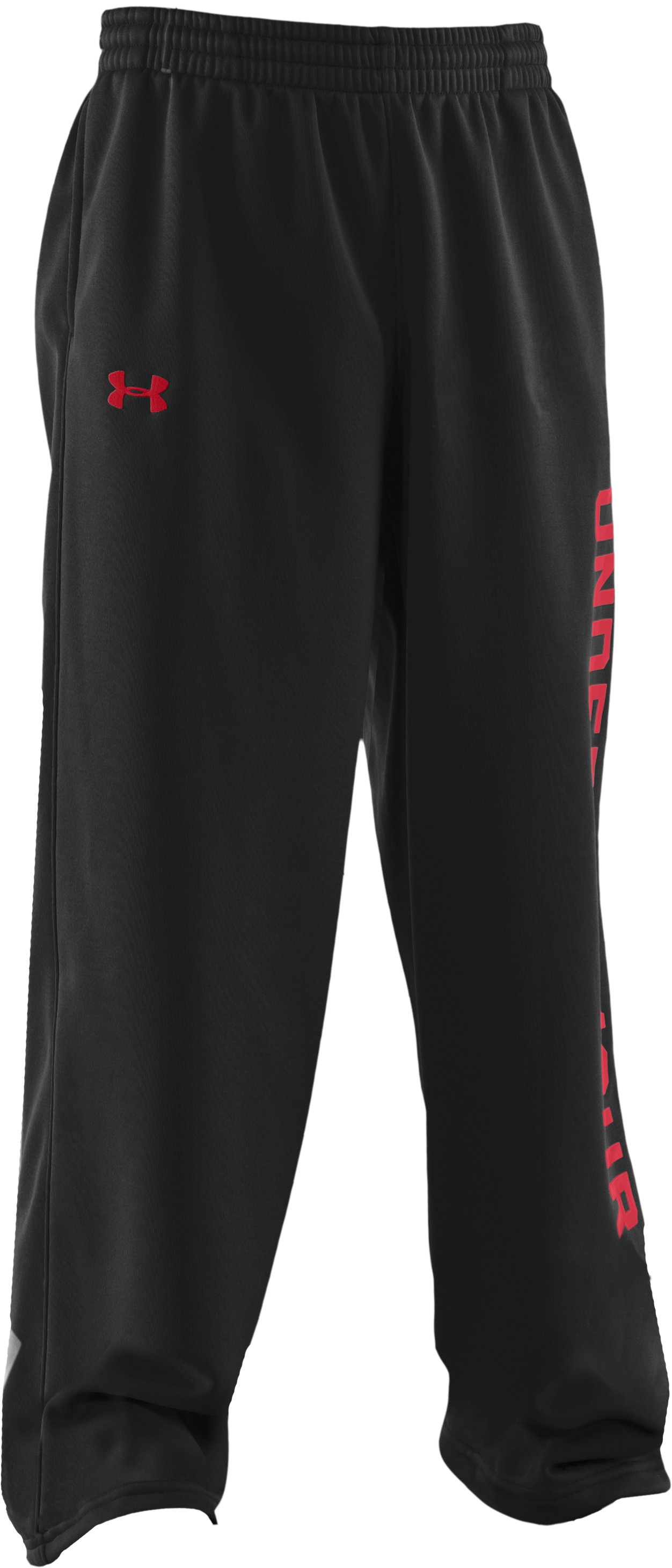 Boys' Armour® Fleece Storm Pants, Black , zoomed image