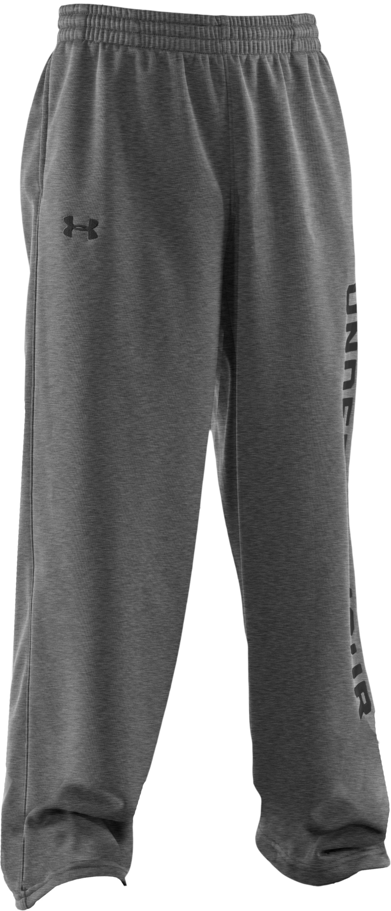 Boys' Armour® Fleece Storm Pants, True Gray Heather,