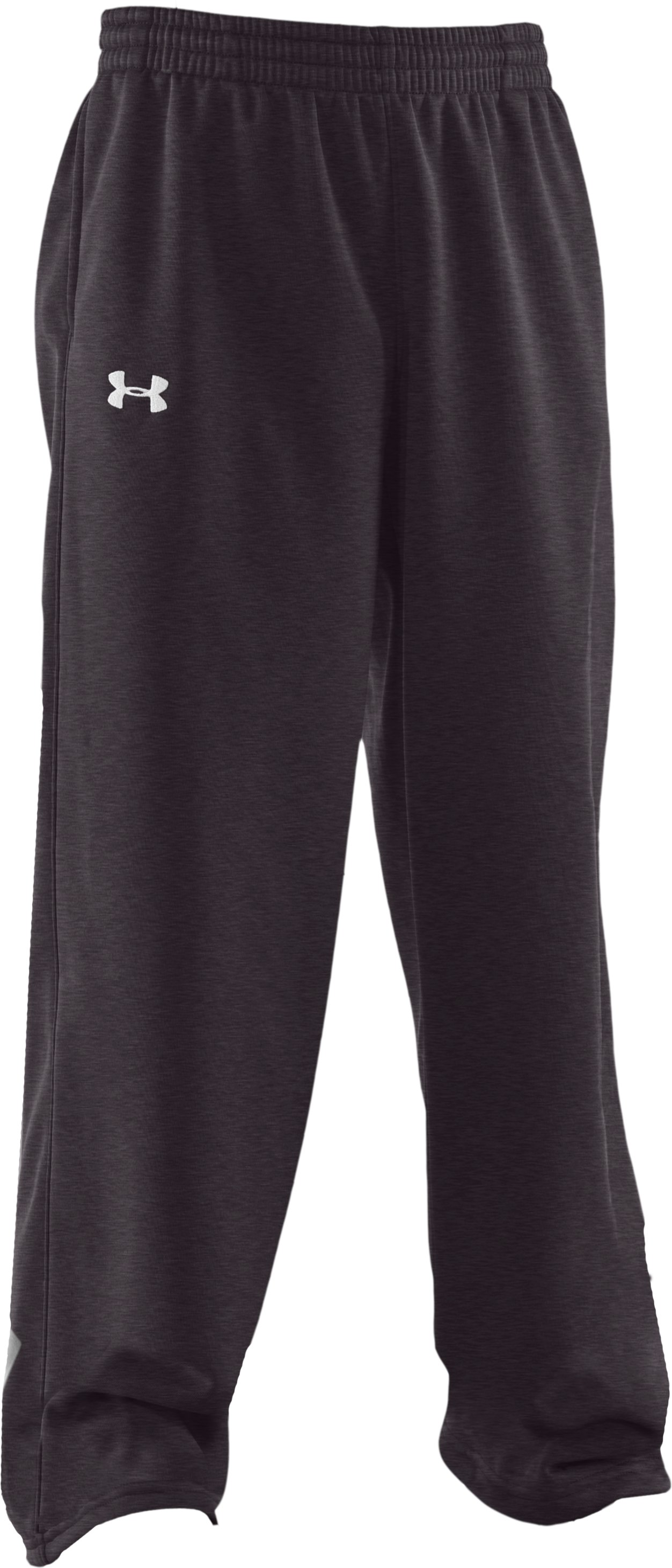Boys' Armour® Fleece Storm Pants, Carbon Heather, zoomed image