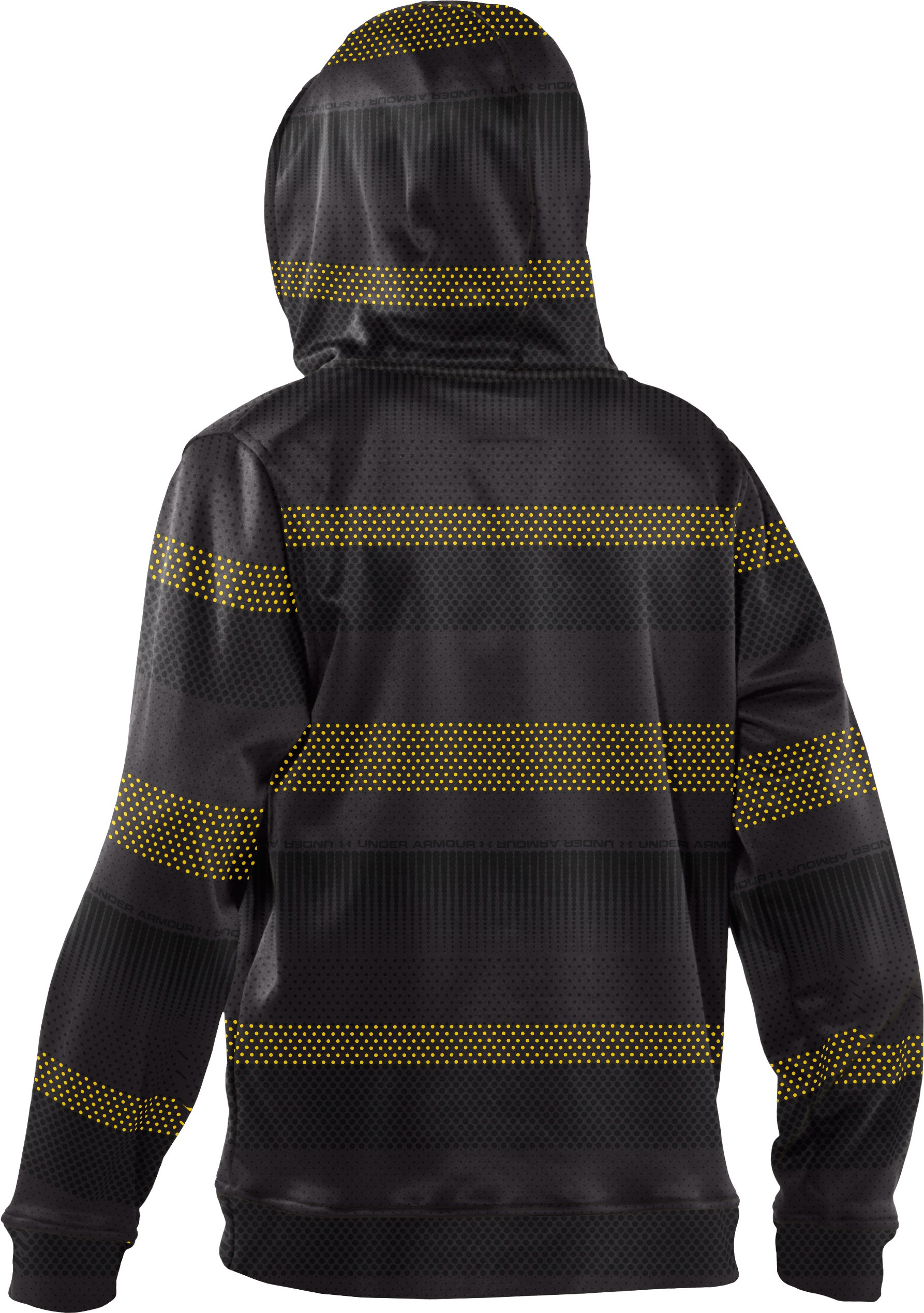 Boys' Armour® Fleece Storm Printed Full Zip Hoodie, Taxi