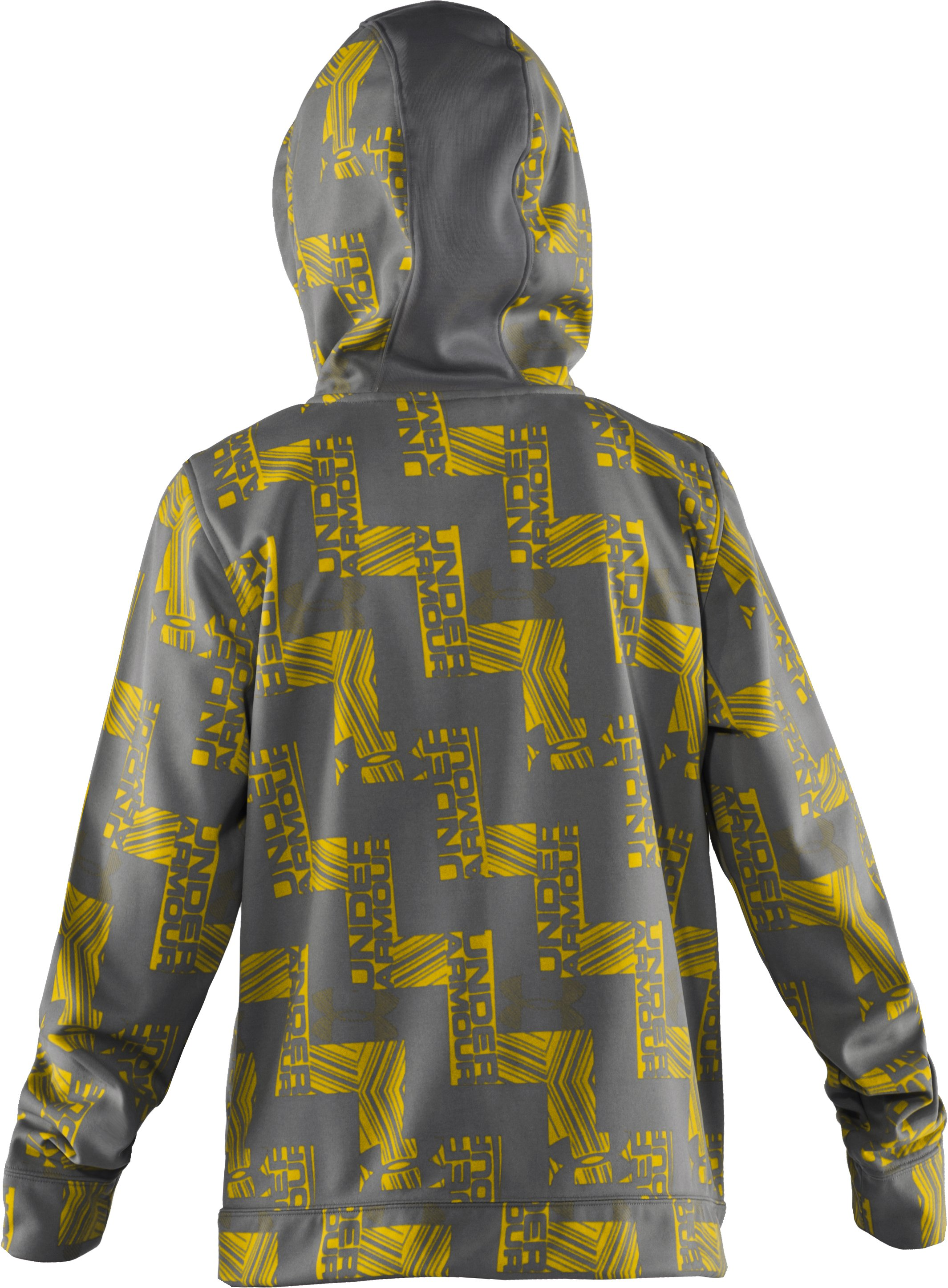 Boys' Armour® Fleece Captivate Hoodie, Graphite
