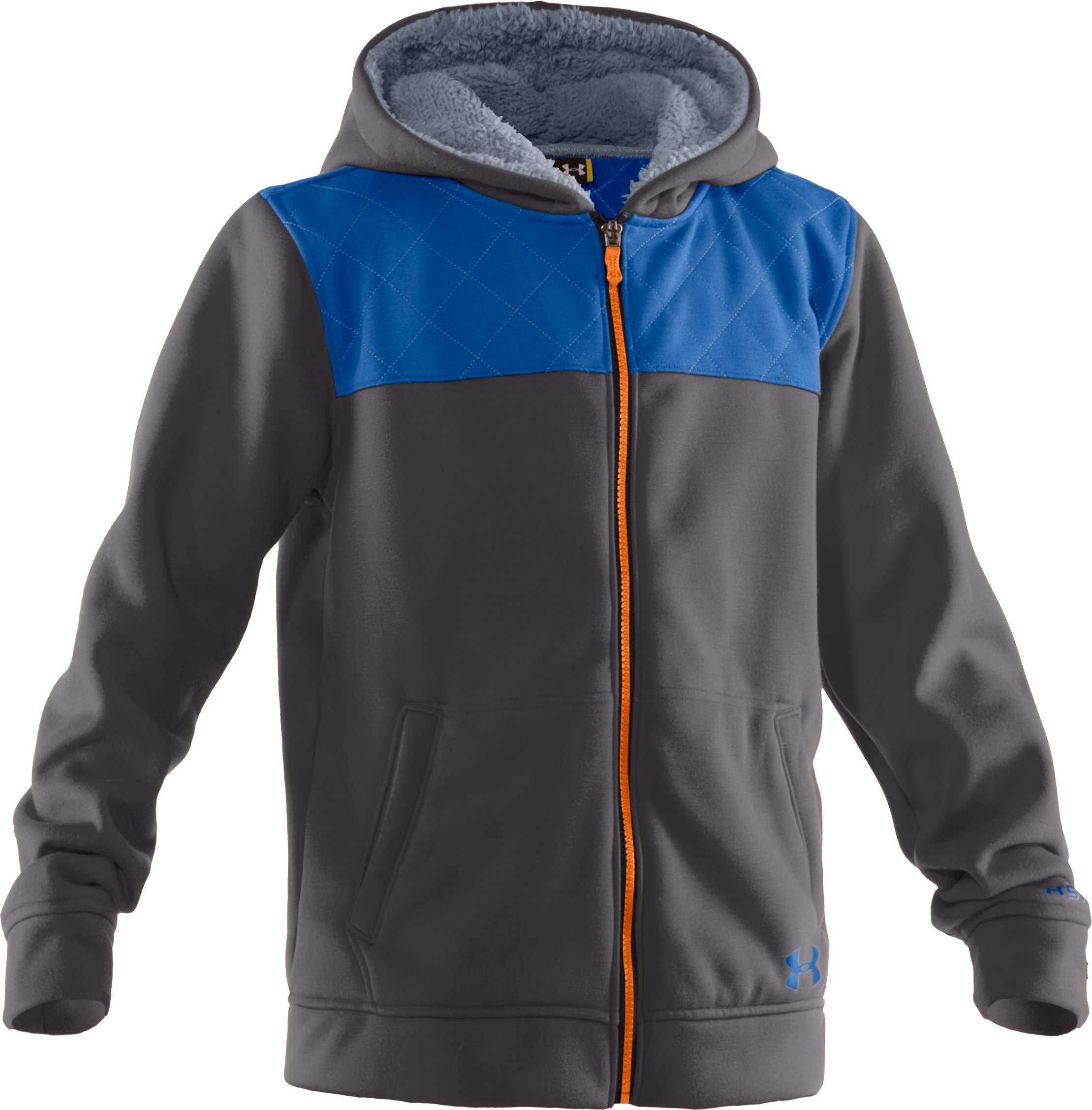 Boys' Charged Cotton® Super Warm Hoodie, Charcoal