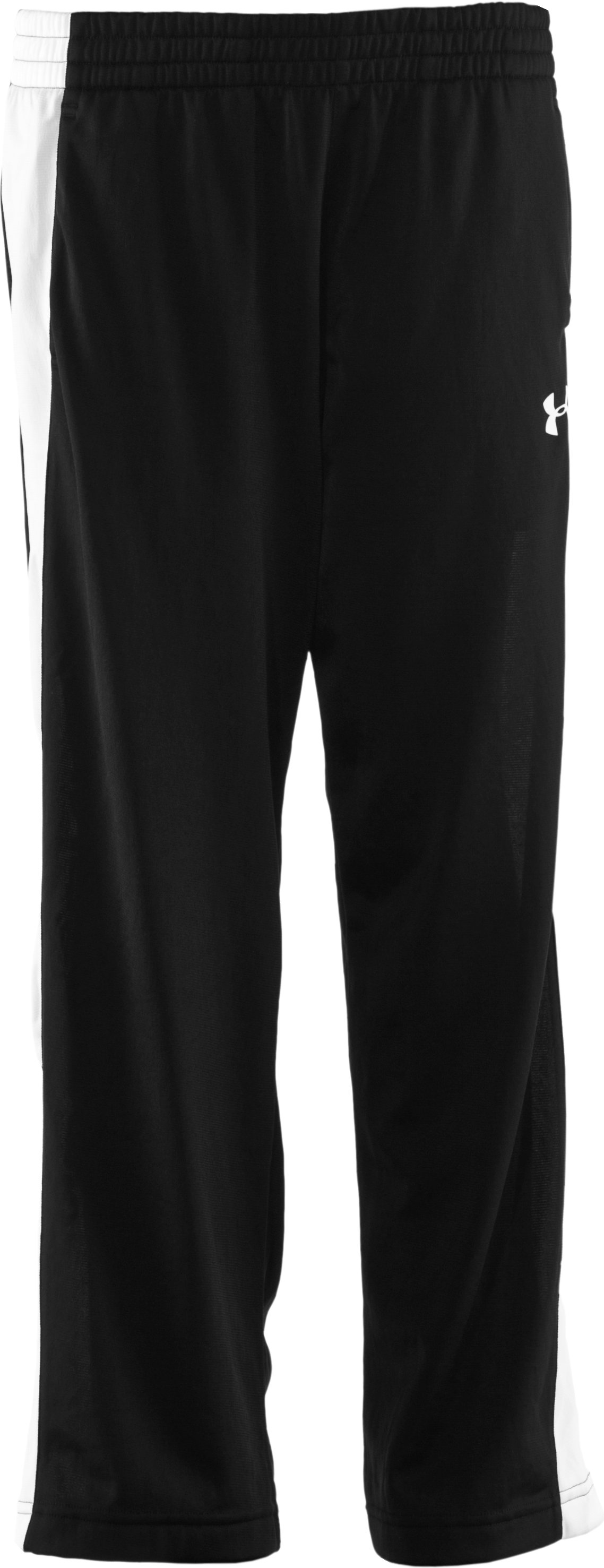 Boys' UA Brawler Knit Warm-Up Pants, Black , zoomed image