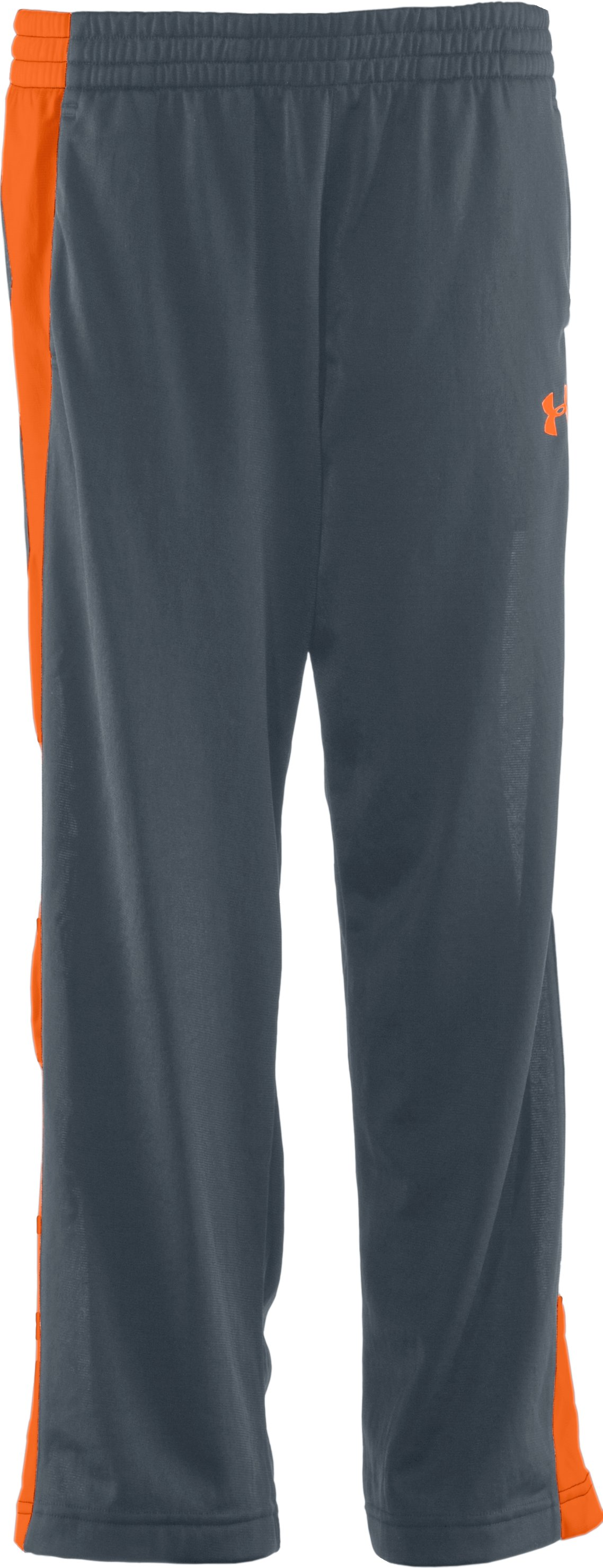 Boys' UA Brawler Knit Warm-Up Pants, Charcoal, undefined