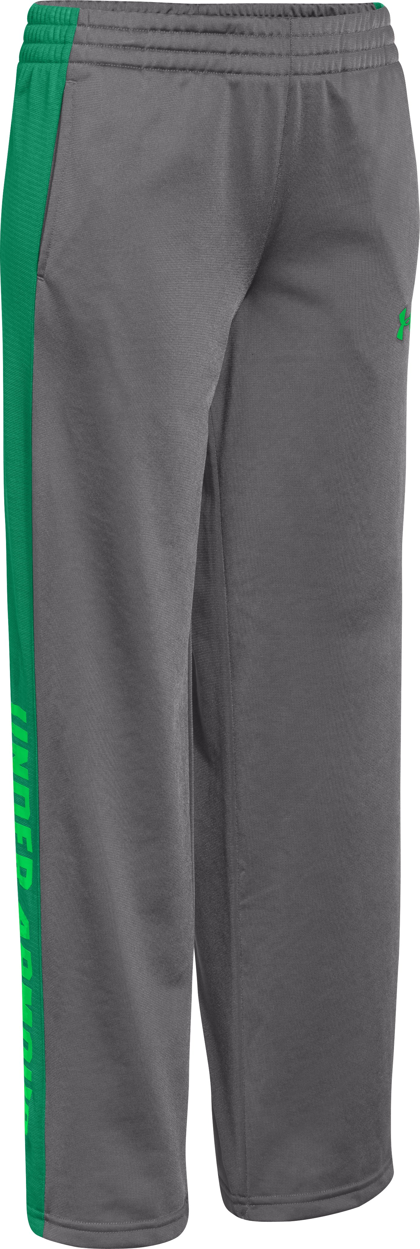 Boys' UA Brawler Knit Warm-Up Pants, Graphite
