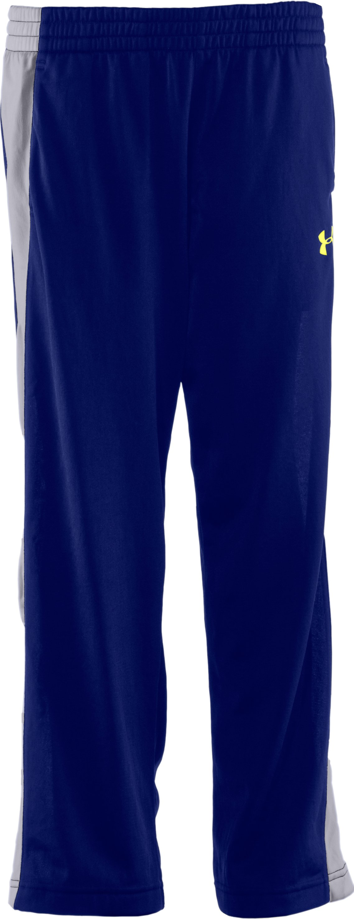 Boys' UA Brawler Knit Warm-Up Pants, Royal, zoomed image