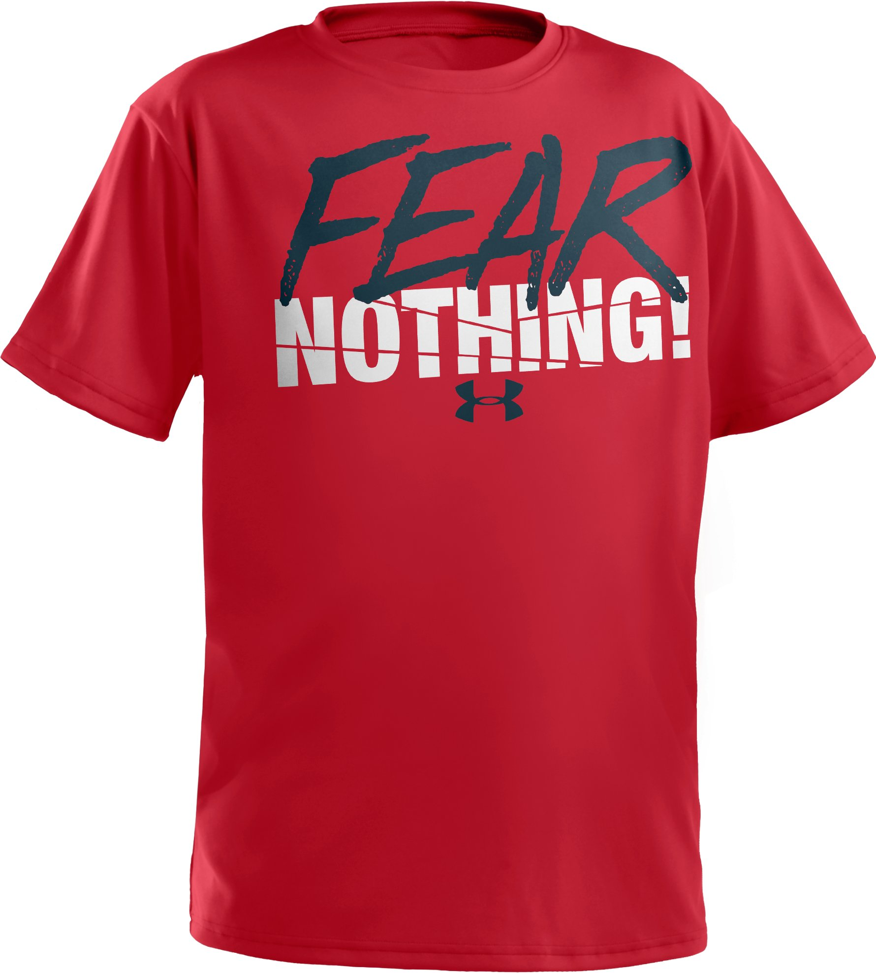 Boys' UA Fear Nothing T-Shirt, Red
