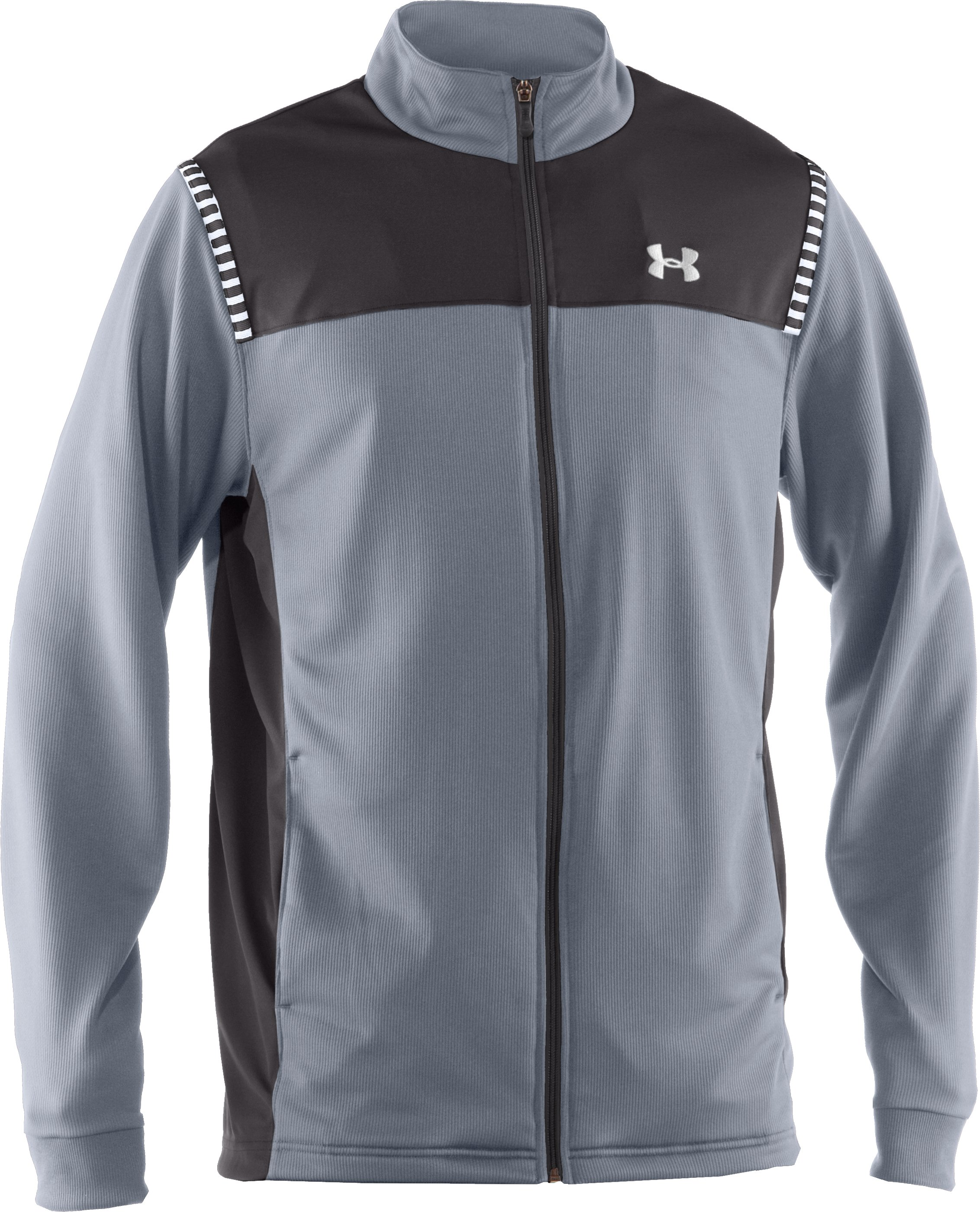 Men's UA Exceed Warm-Up Jacket, Steel, undefined