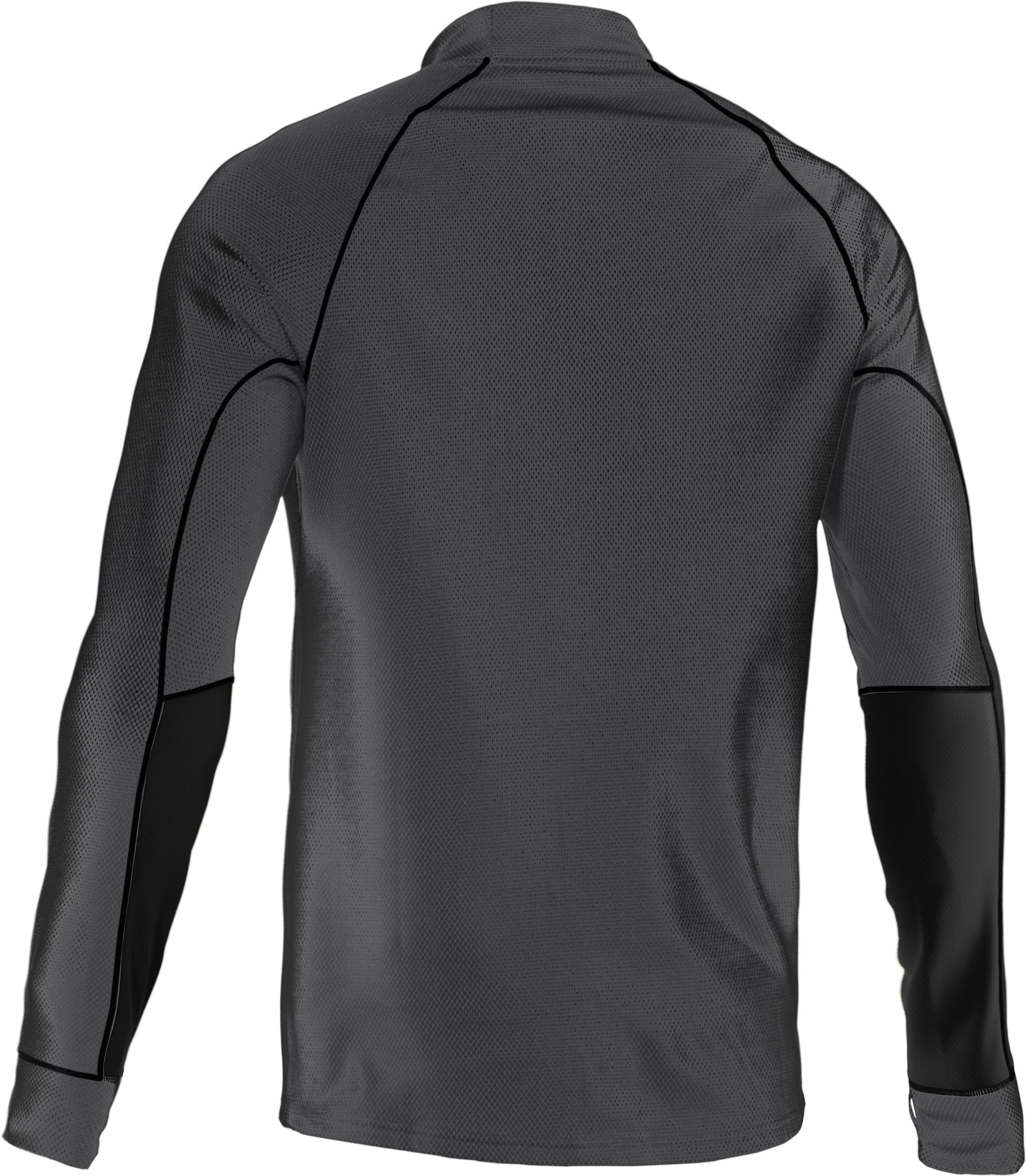 Men's ColdGear® Thermo Run ½ Zip, Graphite, undefined
