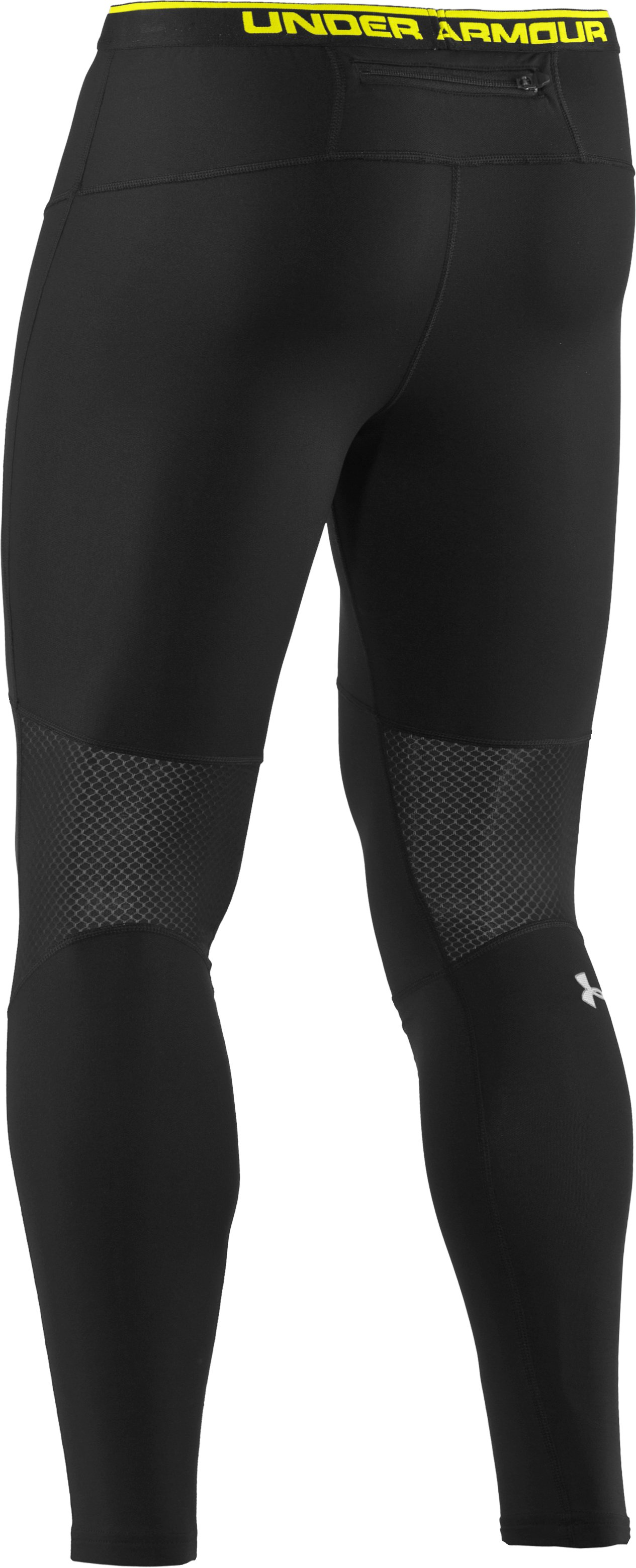 "Men's UA Run ColdGear® 25"" Tights, Black"