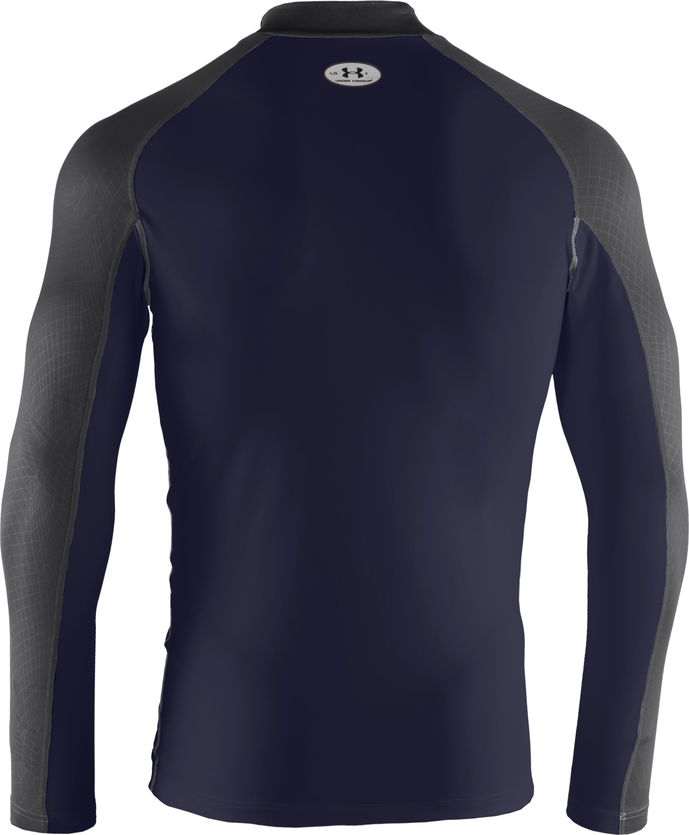 Men's UA Competition Fitted Baselayer Mock, Midnight Navy,