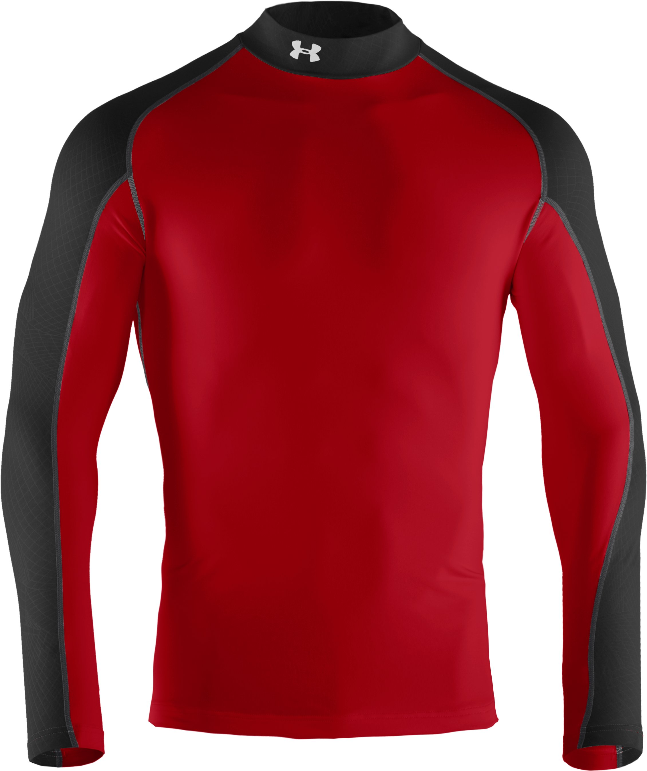 Men's UA Competition Fitted Baselayer Mock, Red,