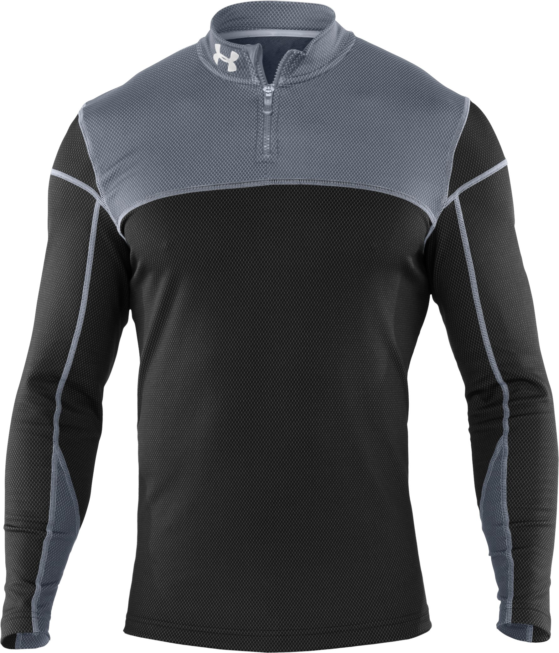 Men's ColdGear® Thermo ¼ Zip, Black