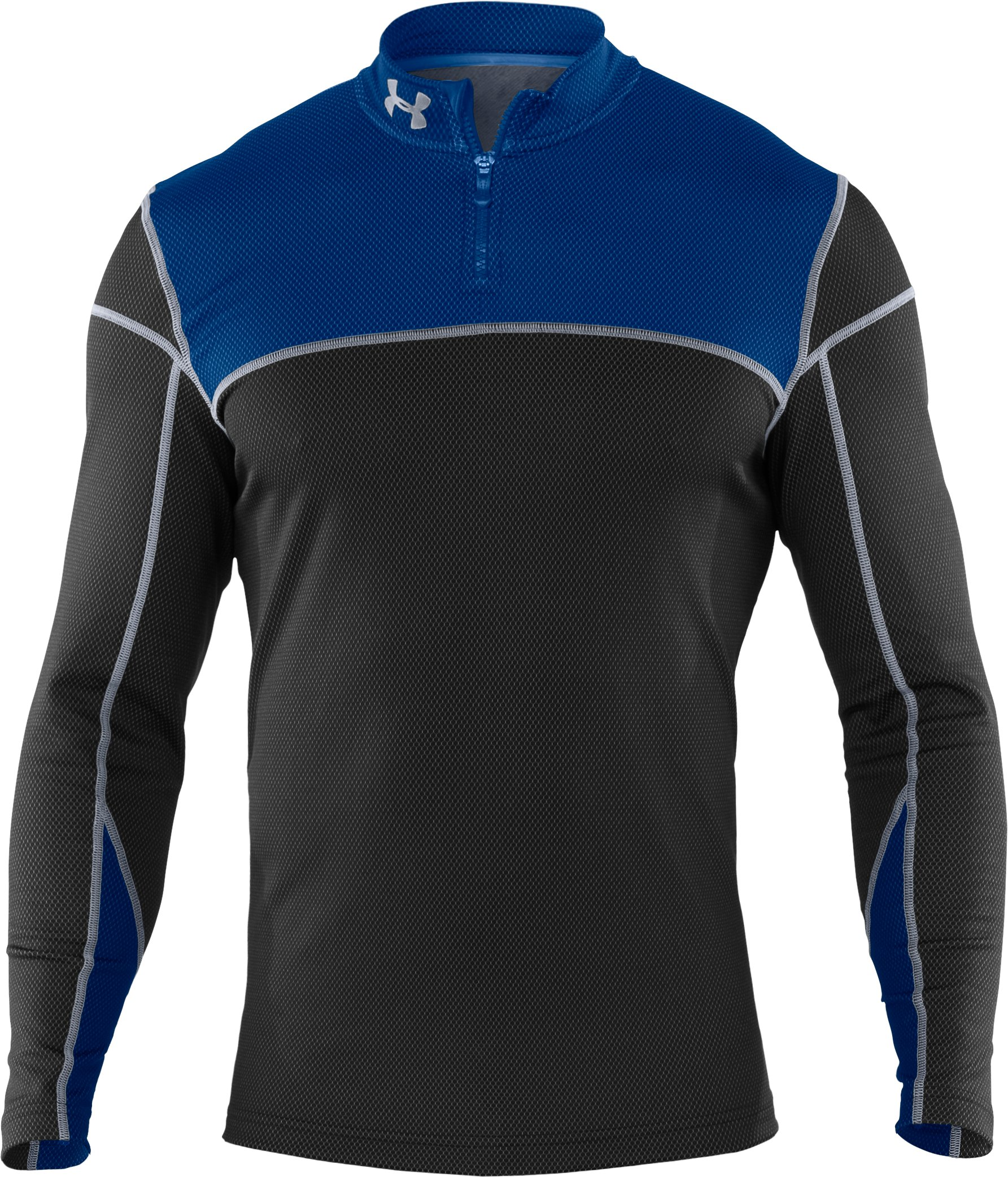 Men's ColdGear® Thermo ¼ Zip, Black , undefined