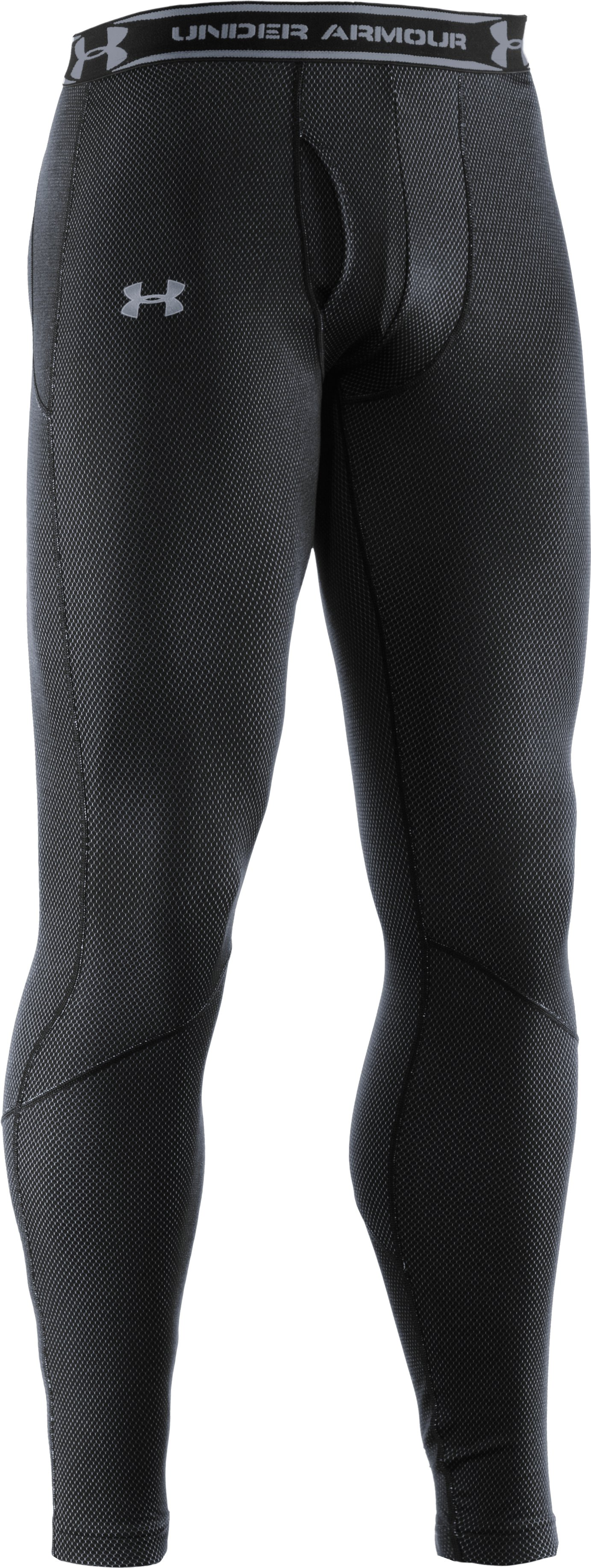 Men's ColdGear® Thermo Baselayer Leggings, Black , undefined
