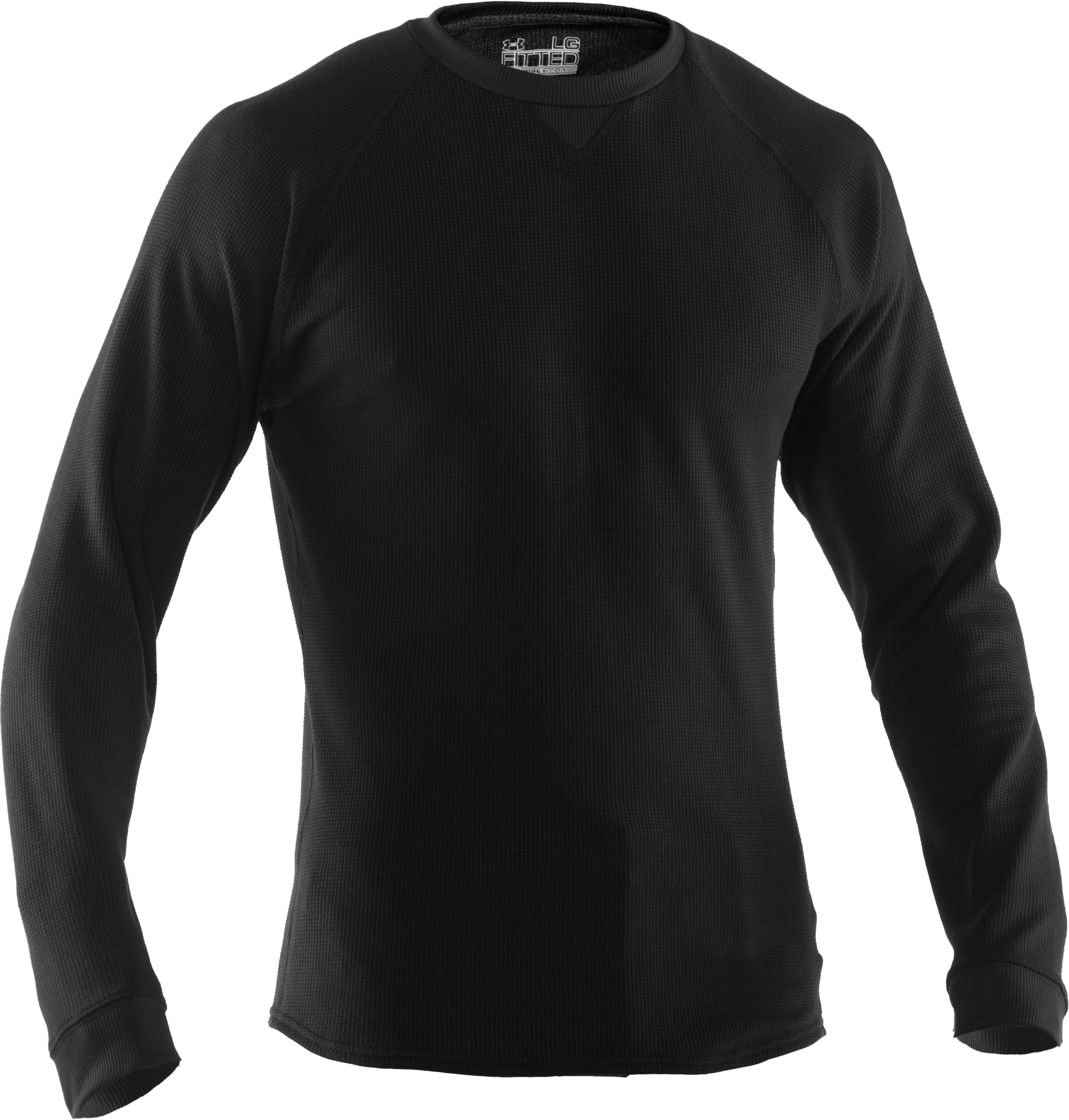 Men's UA Thermal 2.0 Crew Shirt, Black , undefined