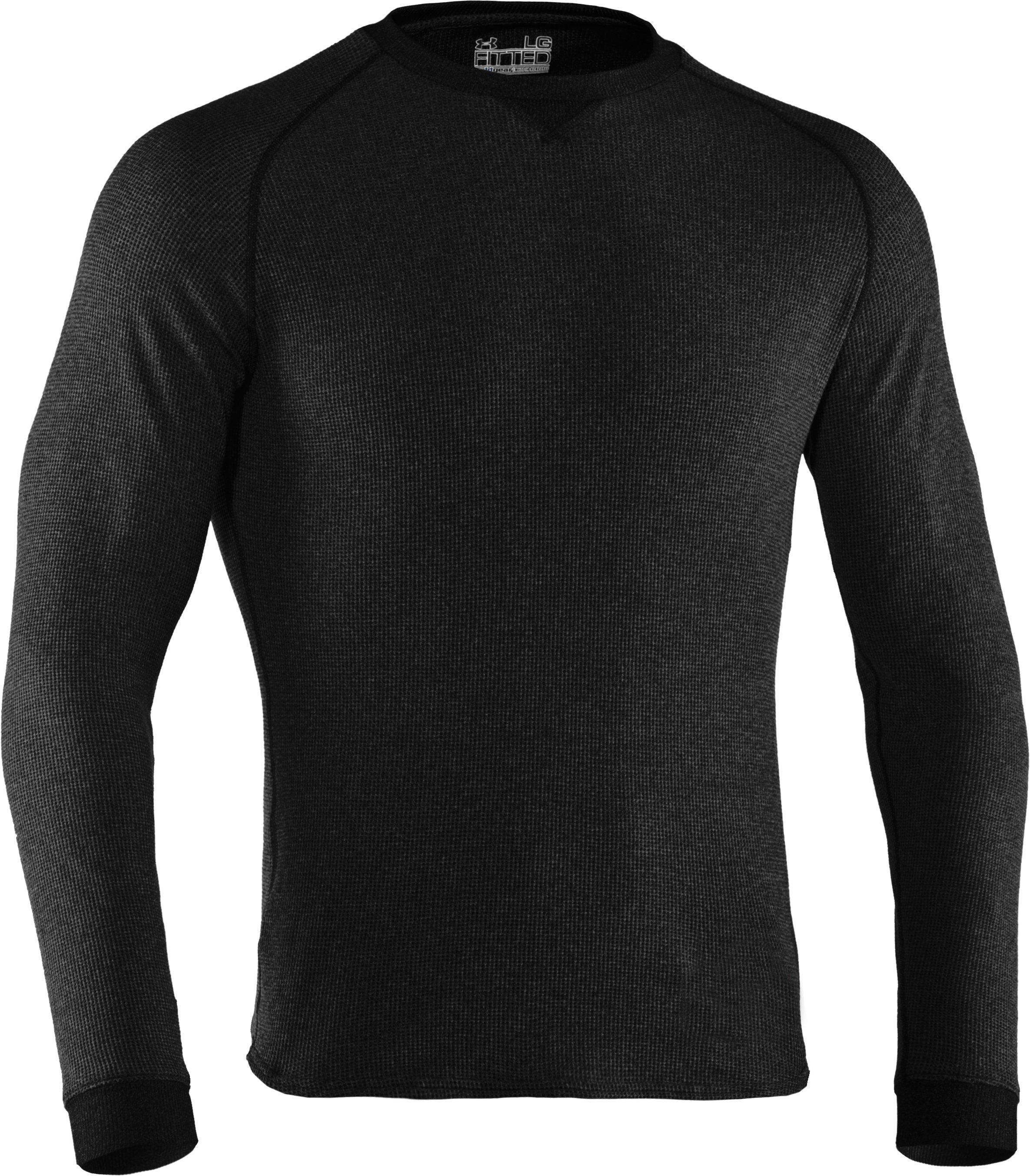 Men's UA Thermal 2.0 Crew Shirt, Black