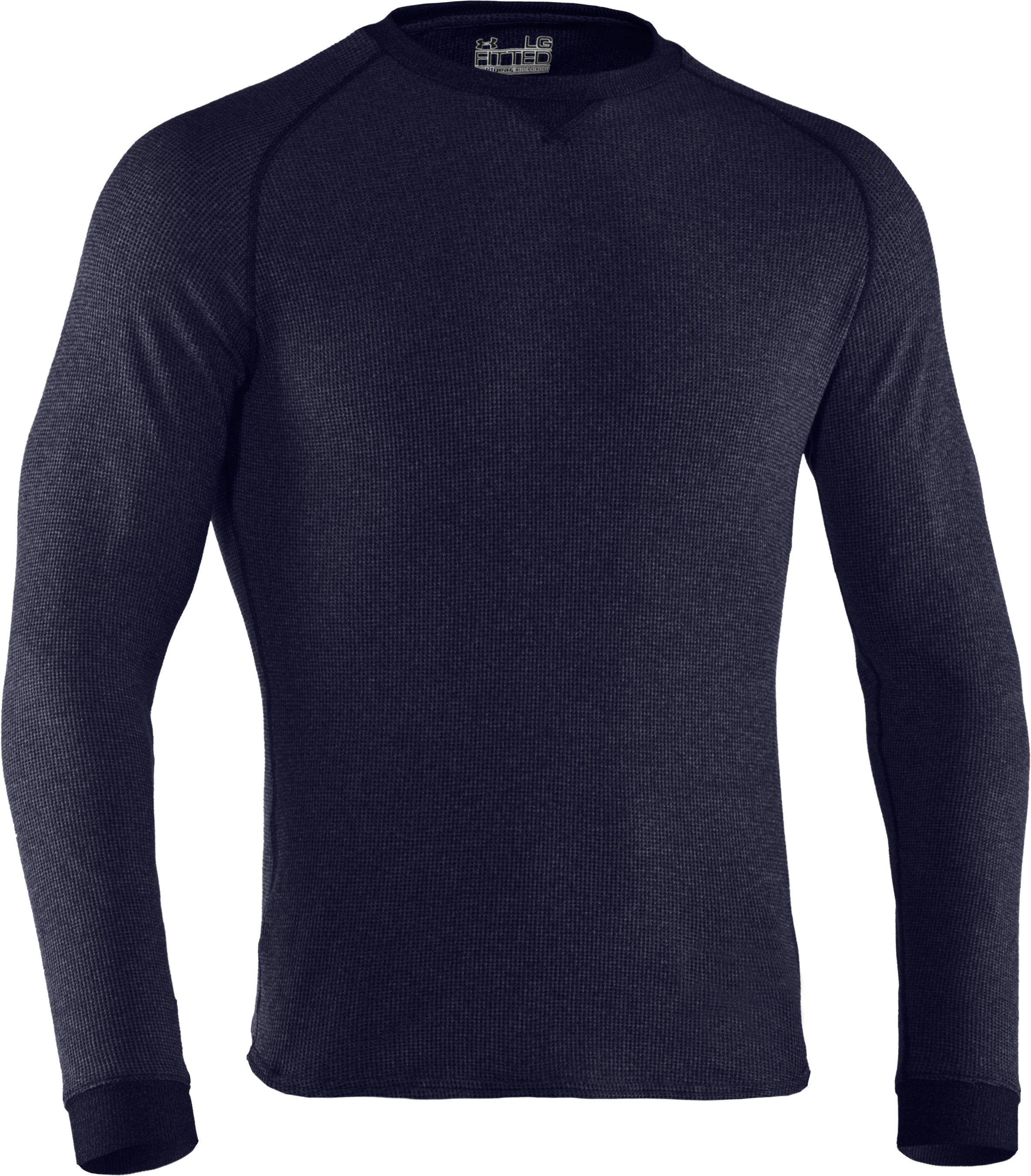 Men's UA Thermal 2.0 Crew Shirt, Midnight Navy, undefined