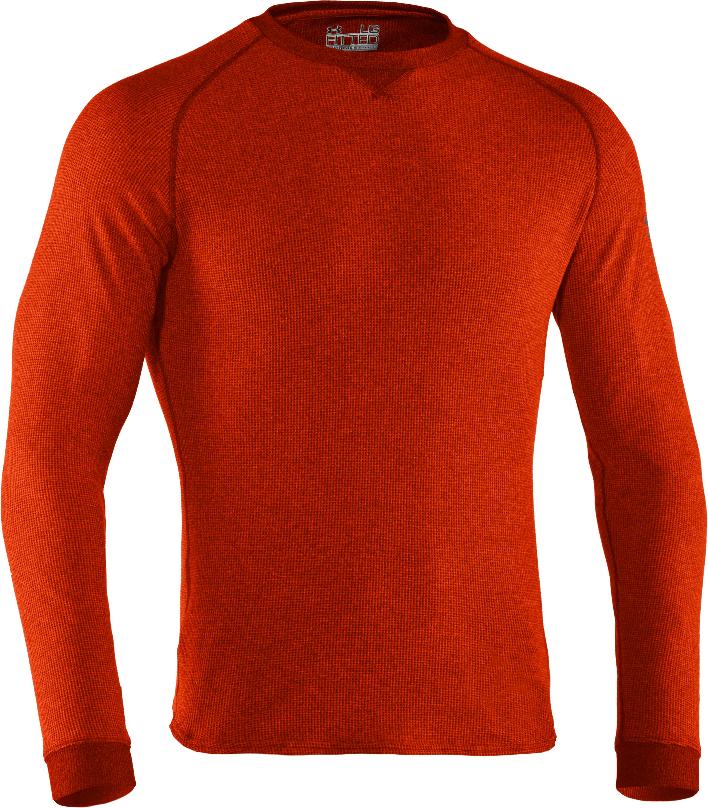 Men's UA Thermal 2.0 Crew Shirt, Dark Orange