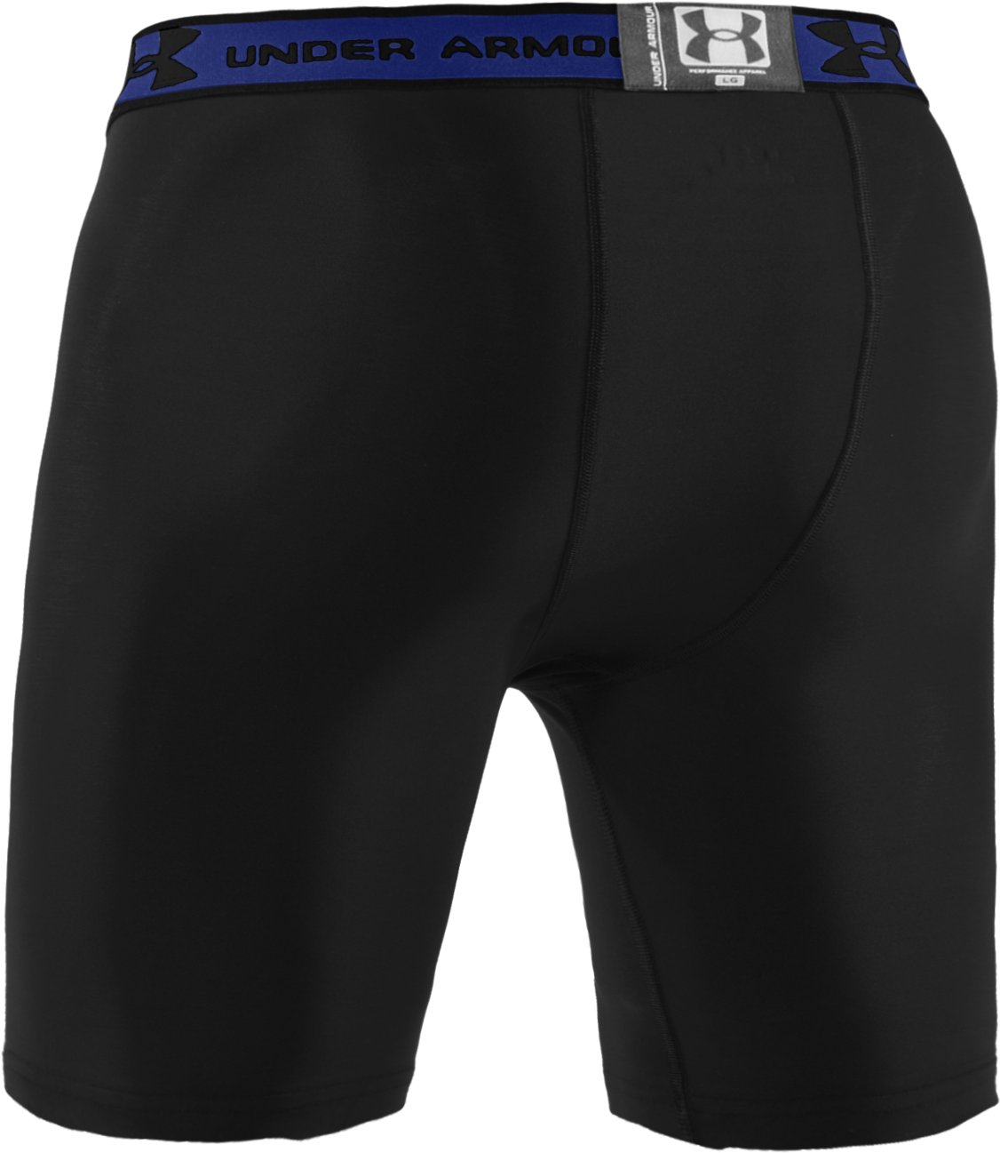 "Men's HeatGear® Compression 7"" Shorts, Black"
