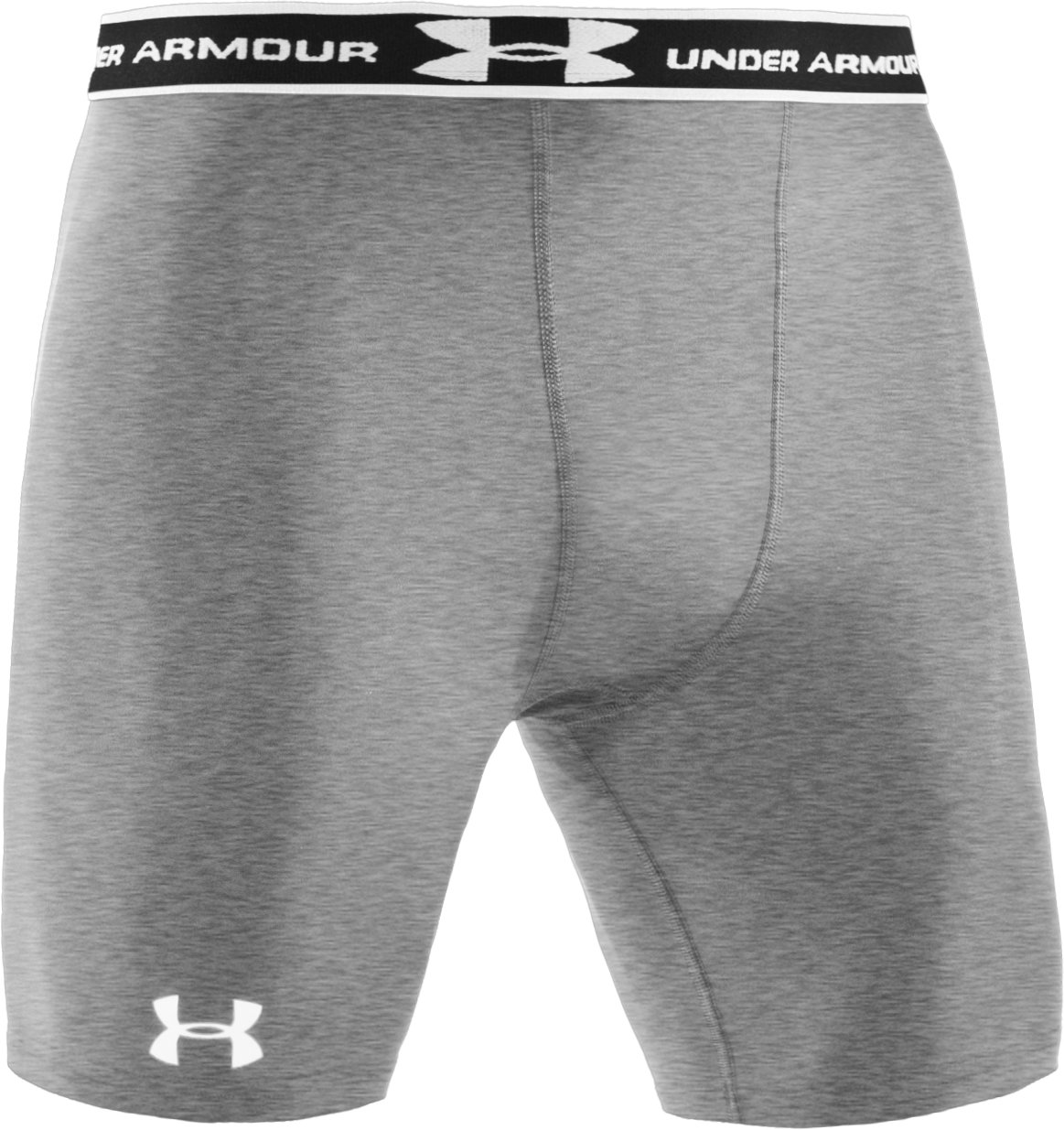 "Men's HeatGear® Compression 7"" Shorts, True Gray Heather,"