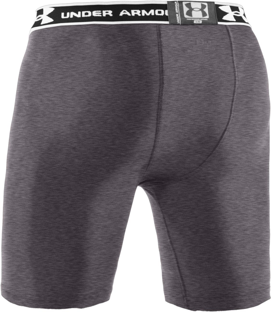"Men's HeatGear® Compression 7"" Shorts, Carbon Heather"