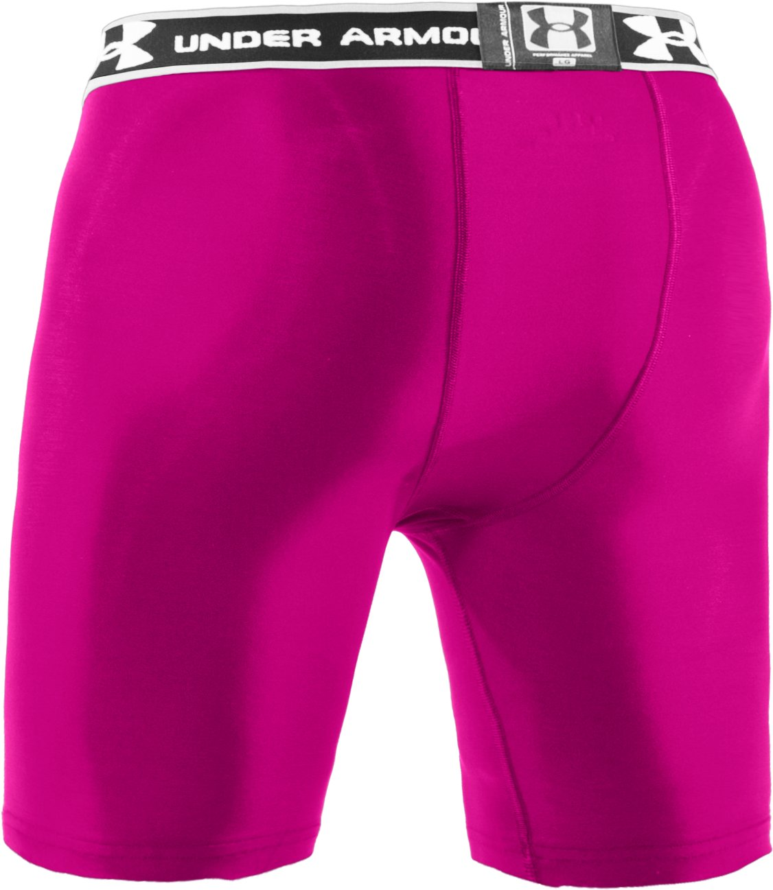 "Men's HeatGear® Compression 7"" Shorts, Tropic Pink"