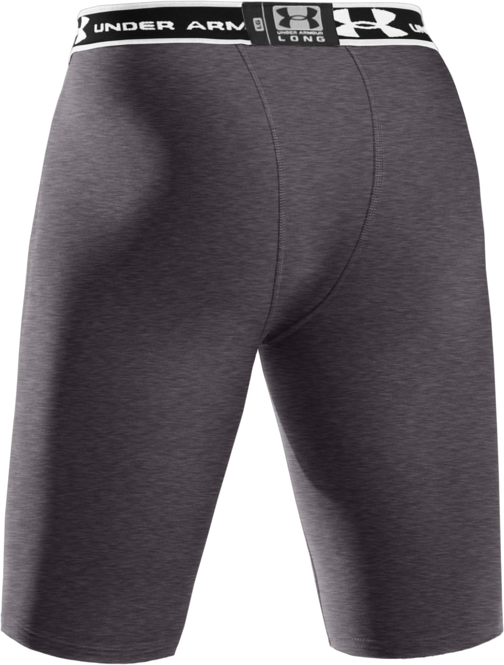 "Men's HeatGear® Compression 9"" Shorts, Carbon Heather"