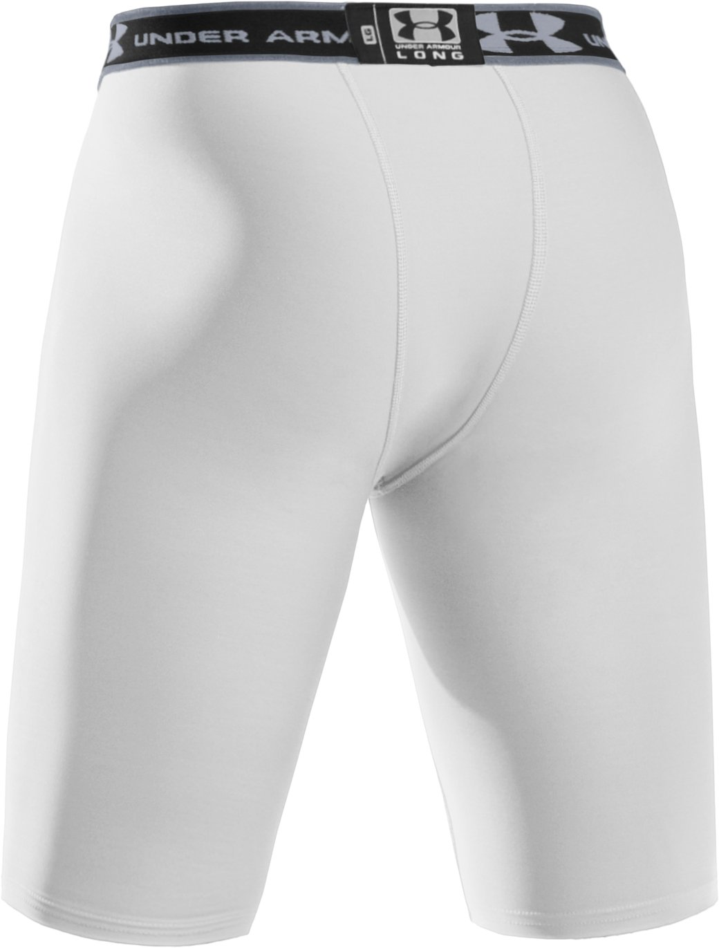 "Men's HeatGear® Compression 9"" Shorts, White"