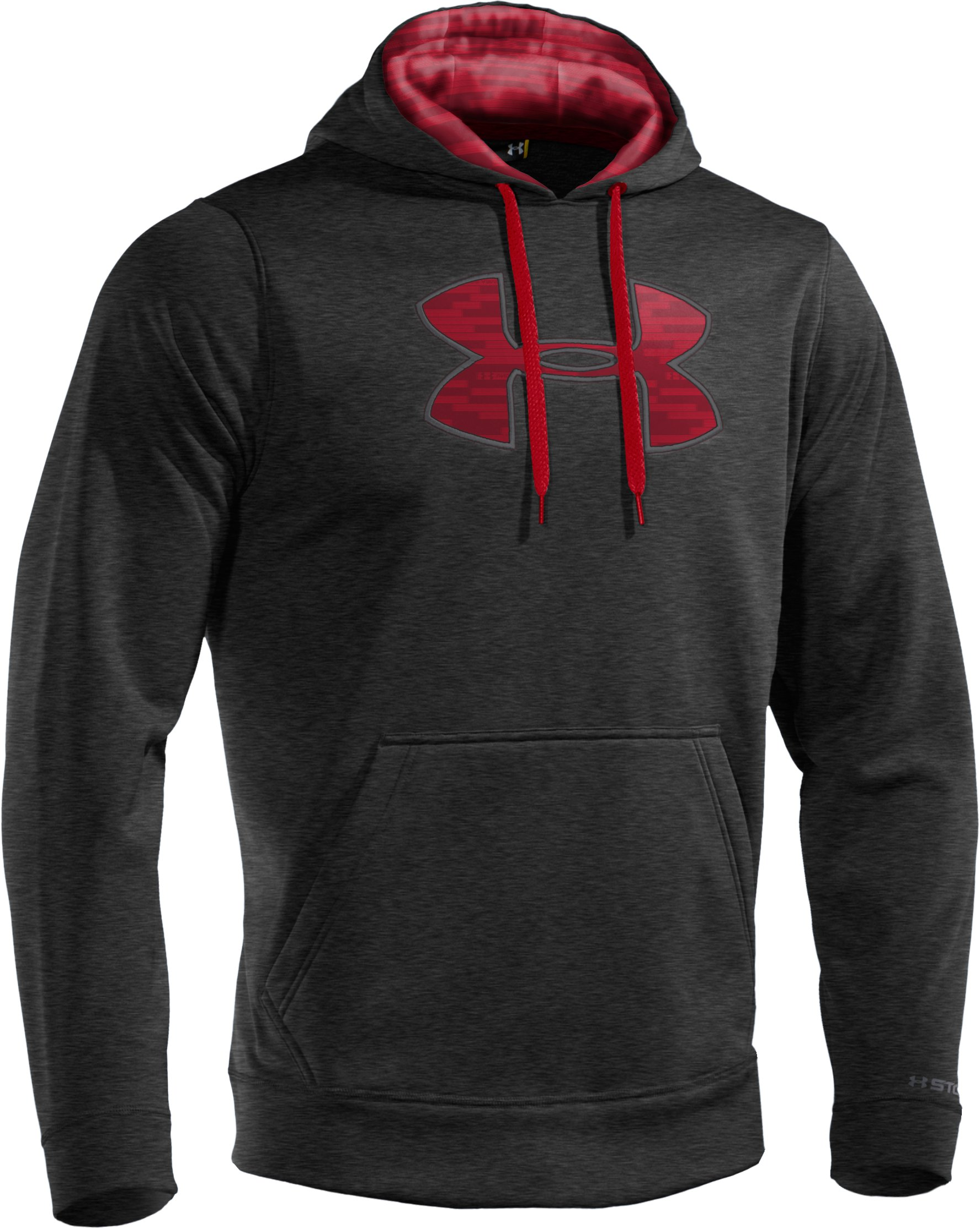 Men's Armour® Fleece Storm Big Logo Hoodie, Asphalt Heather
