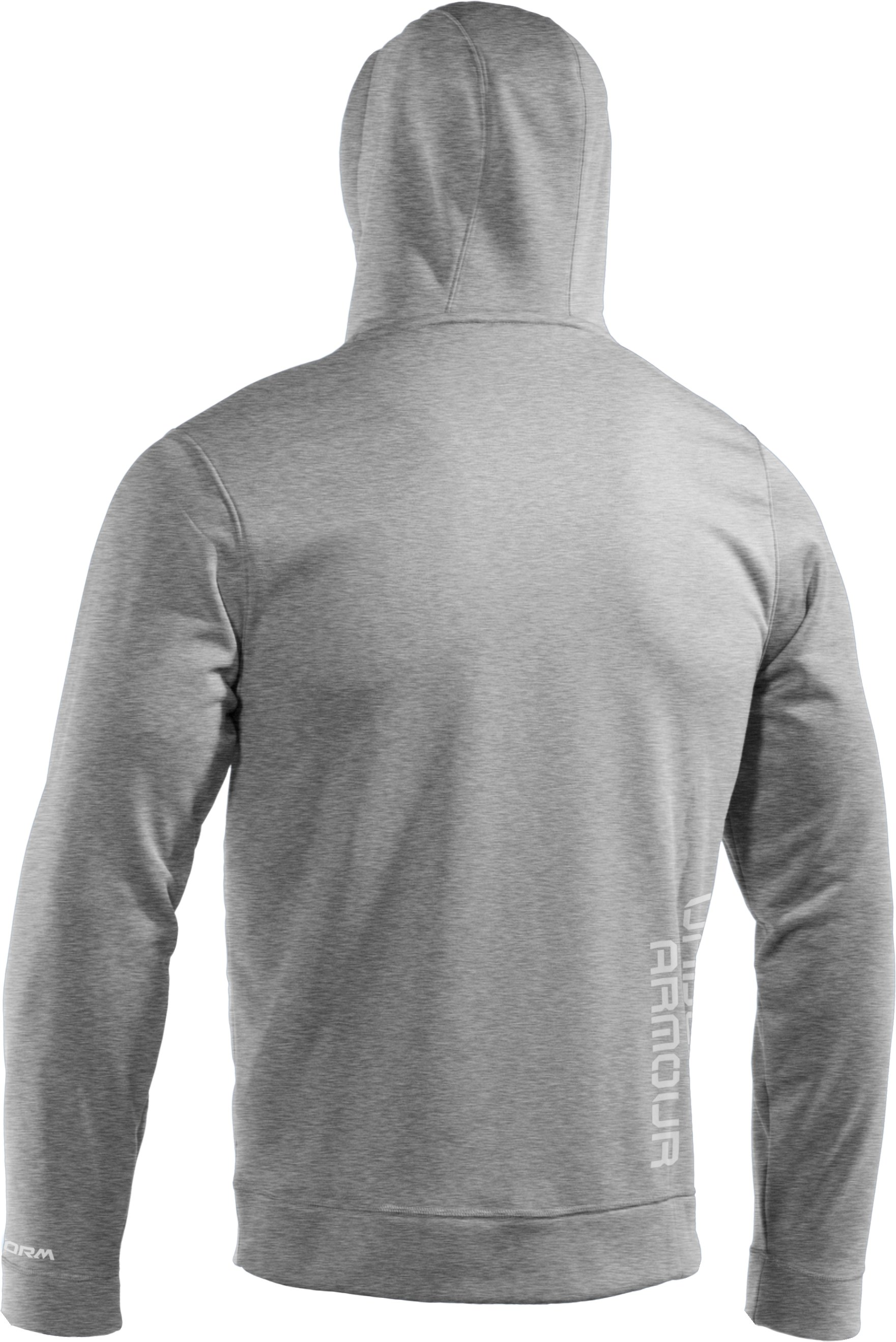 Men's Armour® Fleece Storm Big Logo Hoodie, True Gray Heather, undefined