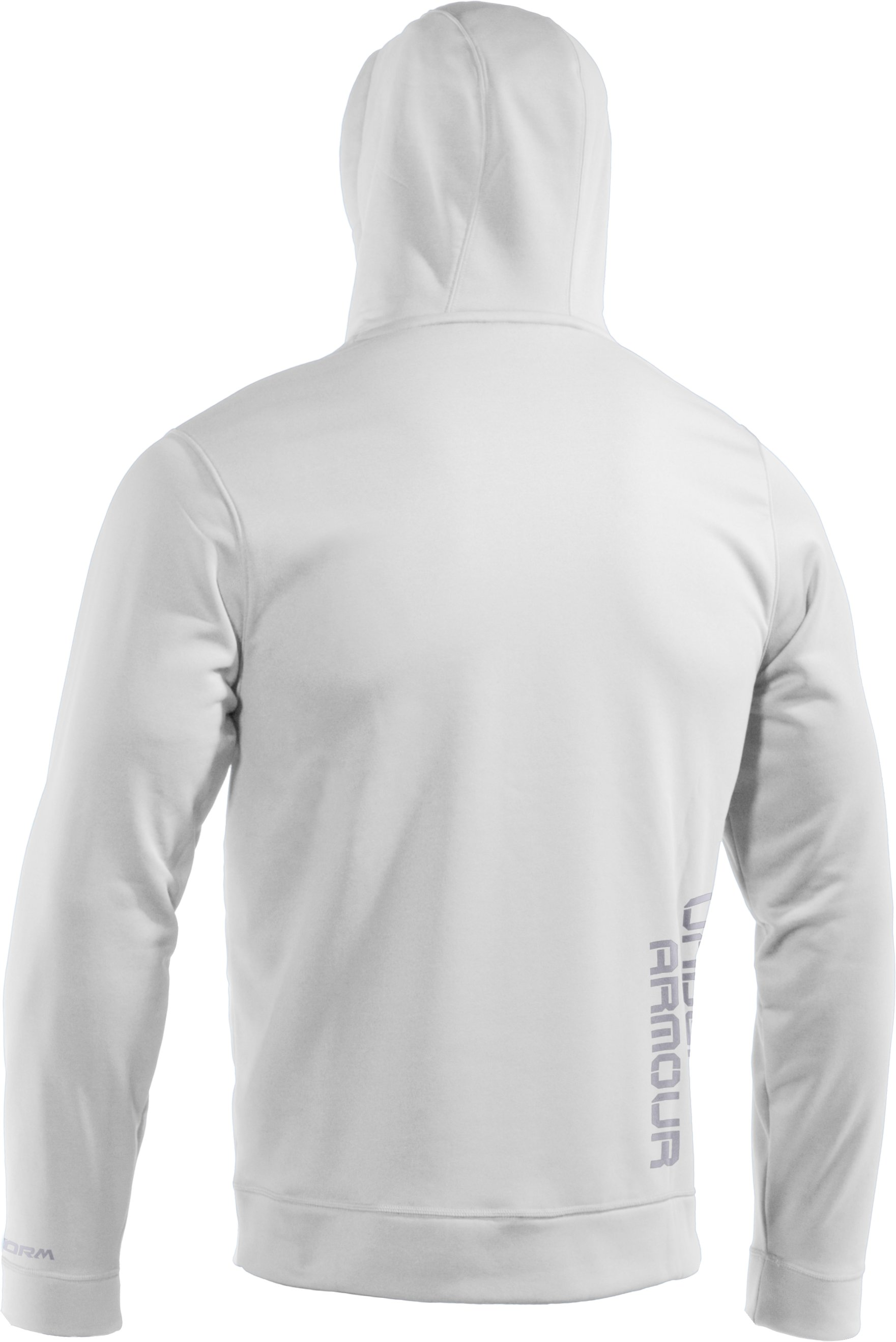 Men's Armour® Fleece Storm Big Logo Hoodie, White