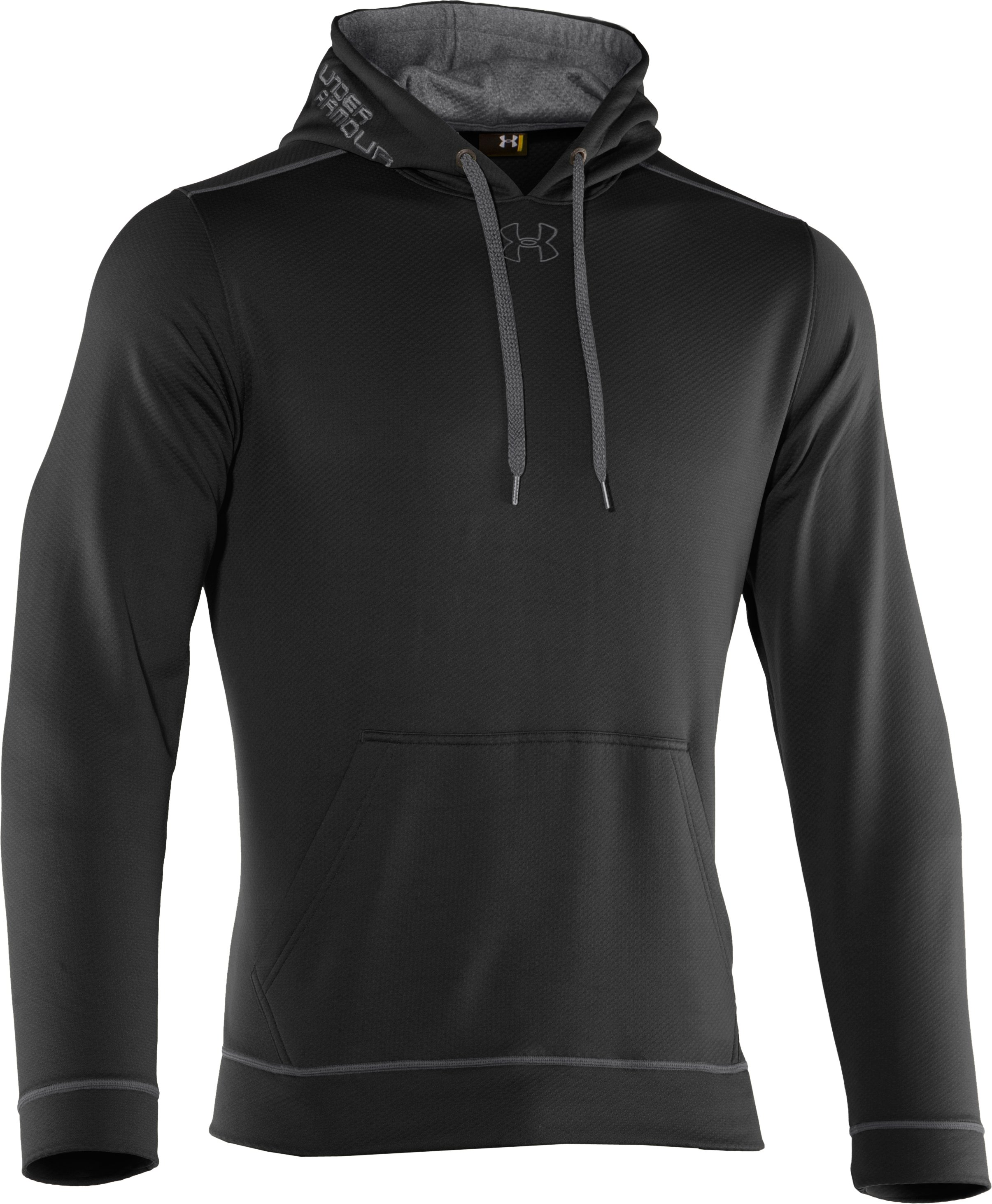 Men's UA Tech™ Fleece Pullover Hoodie, Black ,