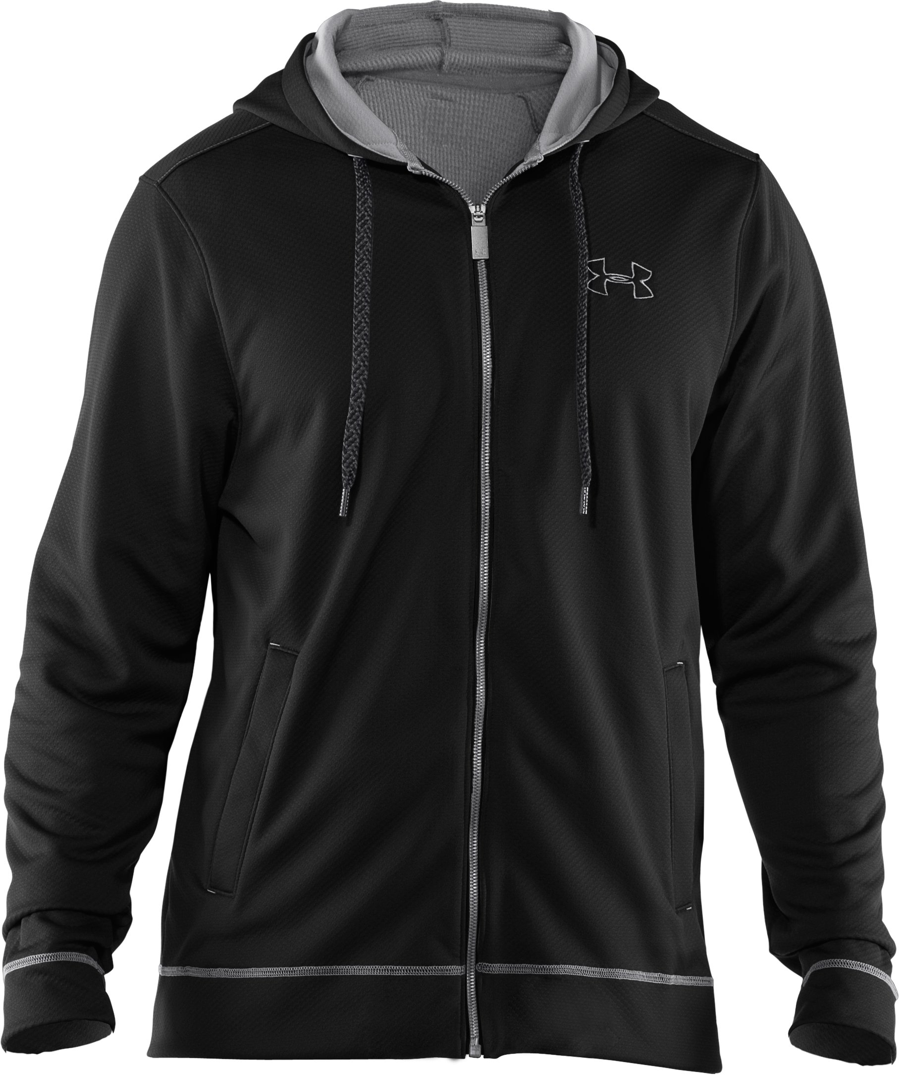 Men's UA Tech™ Fleece Full Zip Hoodie, Black