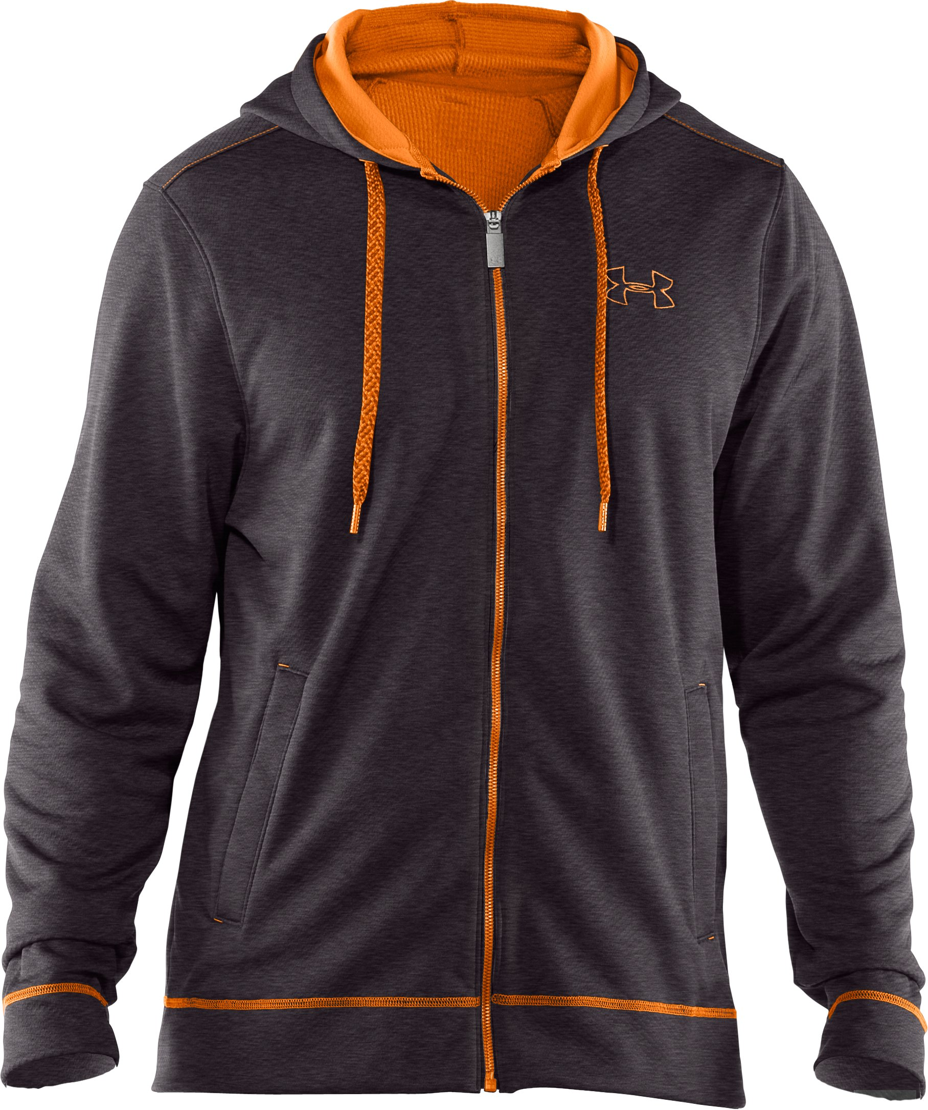 Men's UA Tech™ Fleece Full Zip Hoodie, Carbon Heather,