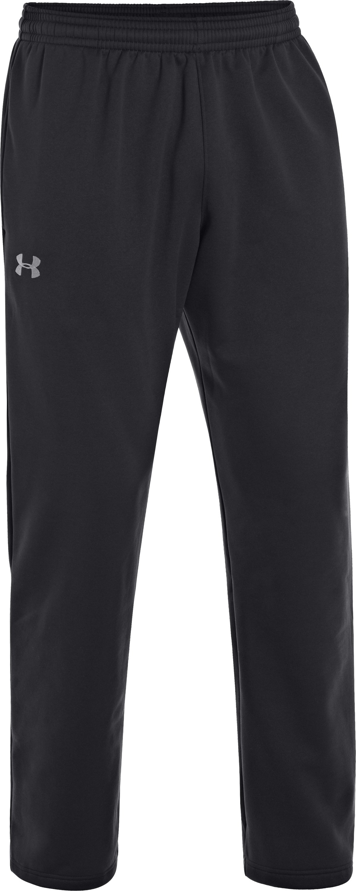 Men's Armour® Fleece Storm Pants, Black , undefined