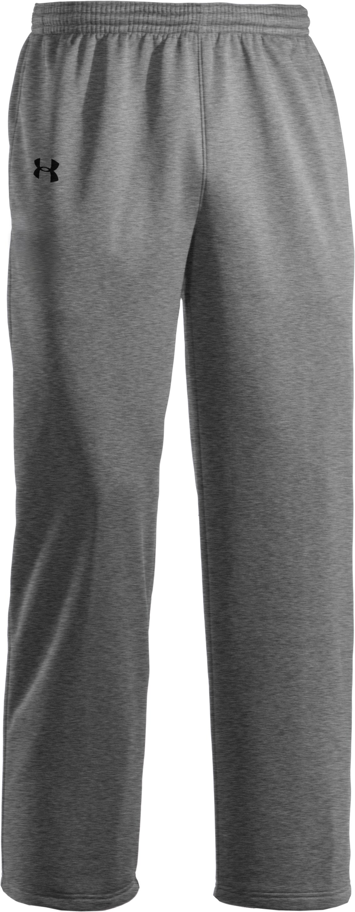 Men's Armour® Fleece Storm Pants, True Gray Heather