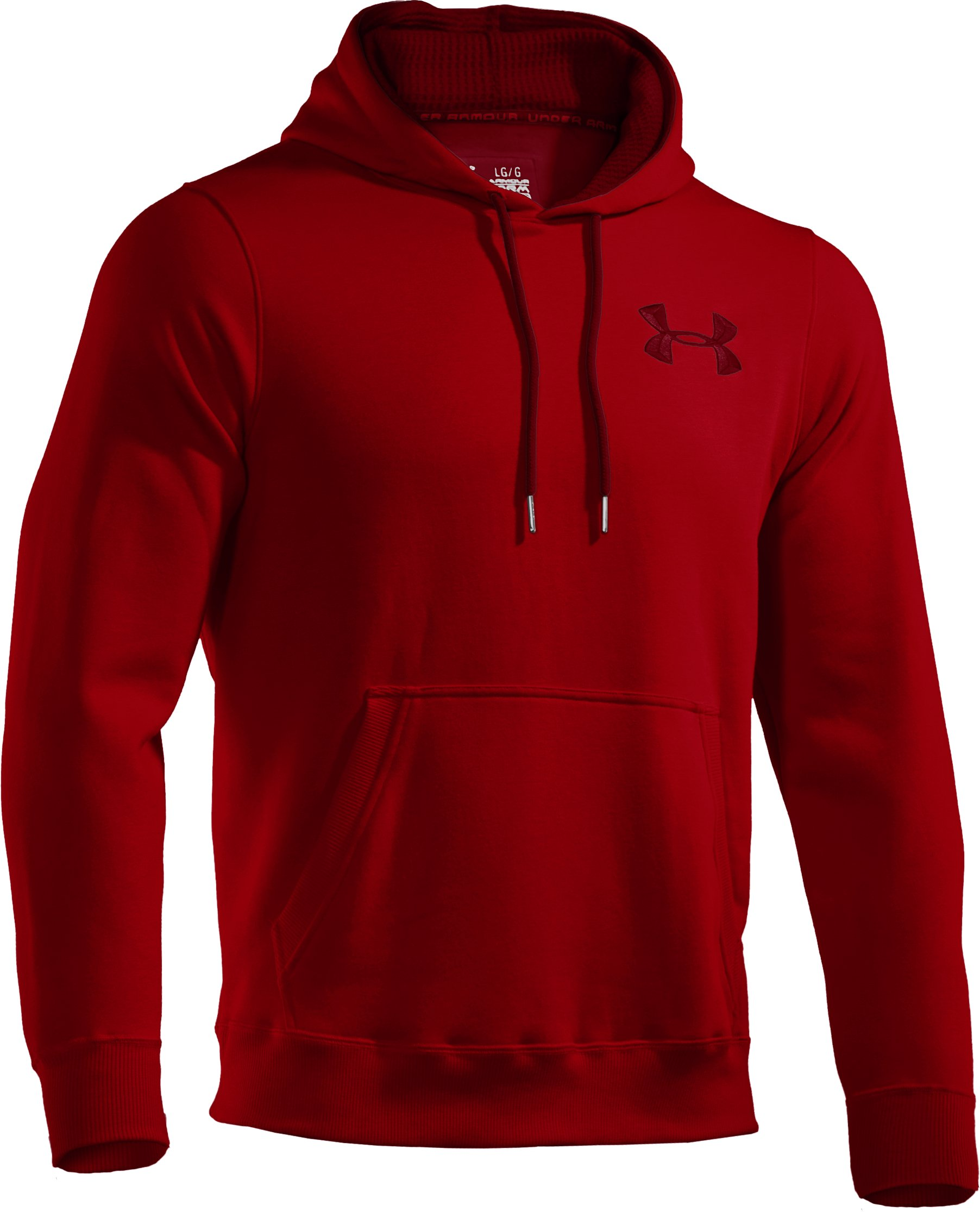 Men's Charged Cotton® Storm Pullover Hoodie, Red, undefined