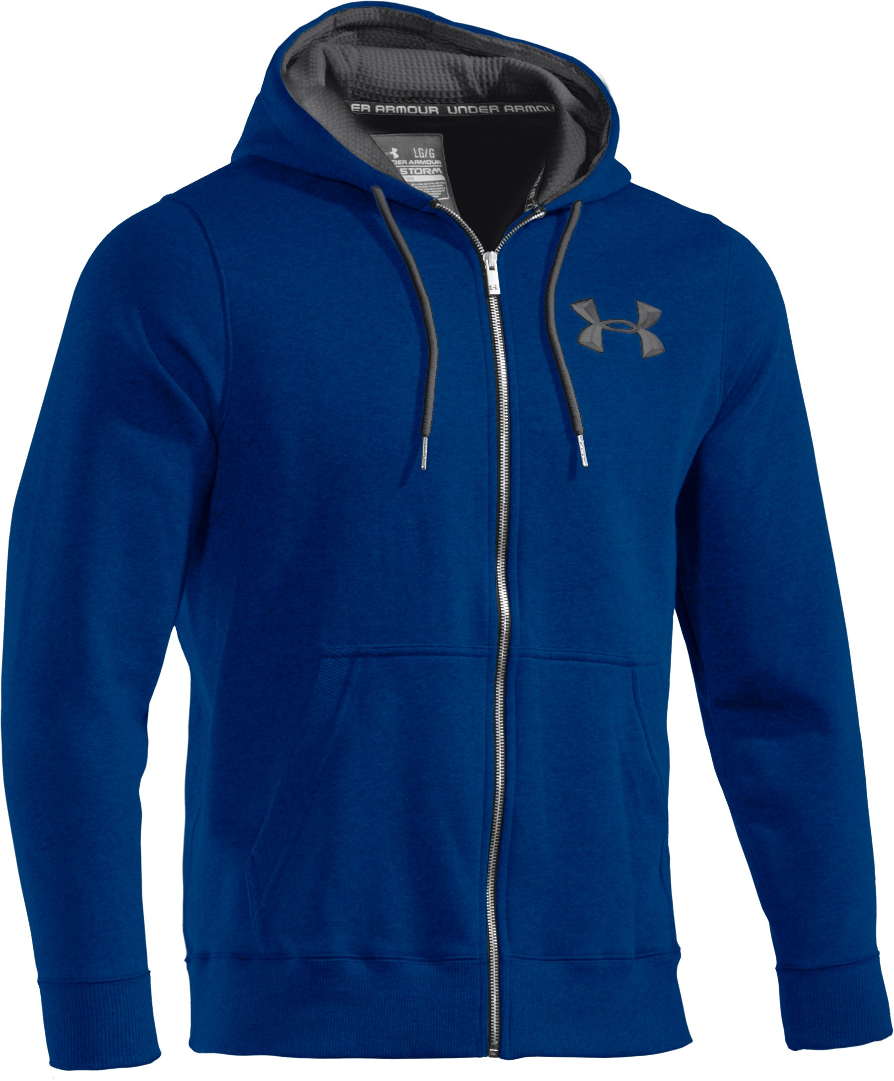 Men's Charged Cotton® Storm Full Zip Hoodie, EMPIRE BLUE