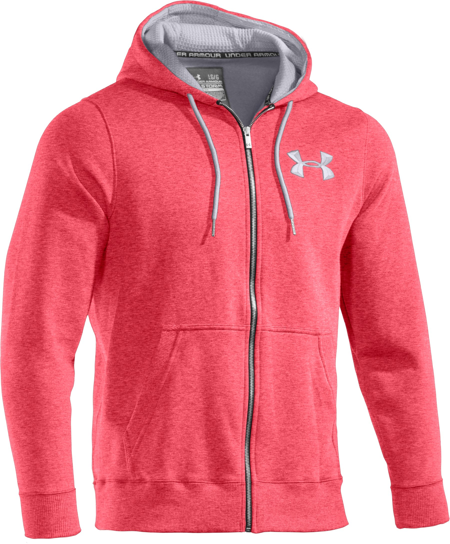 Men's Charged Cotton® Storm Full Zip Hoodie, Red
