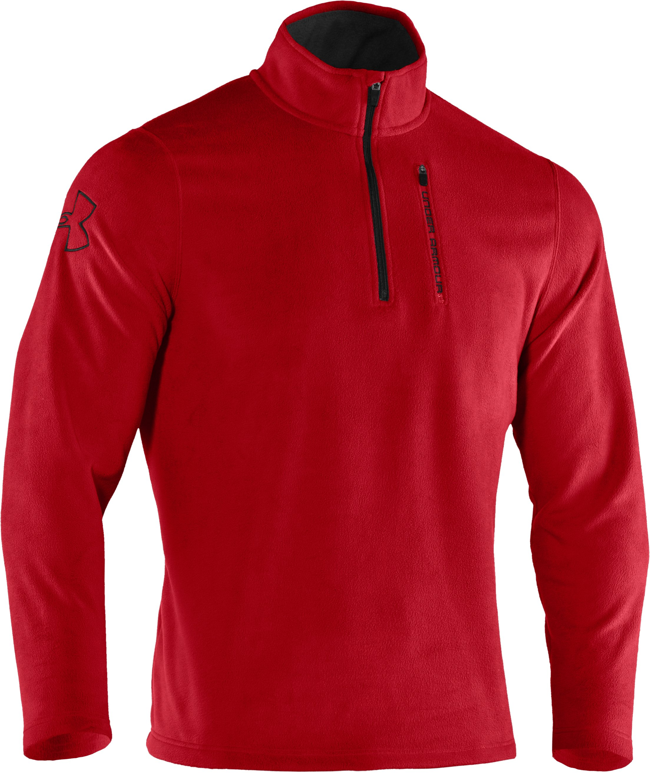 Men's UA Fever ¼ Zip Fleece, Red, undefined